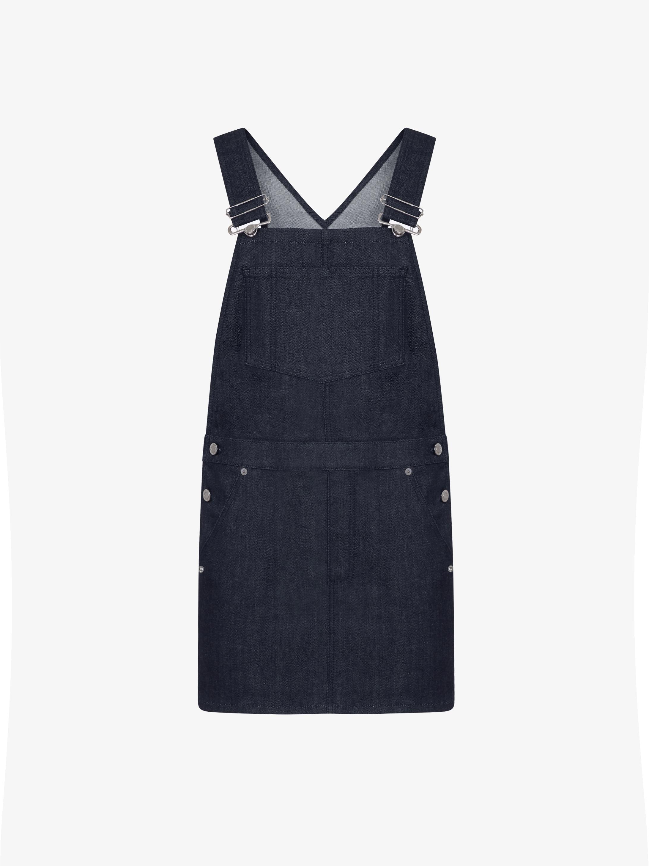 GIVENCHY PARIS overall denim dress