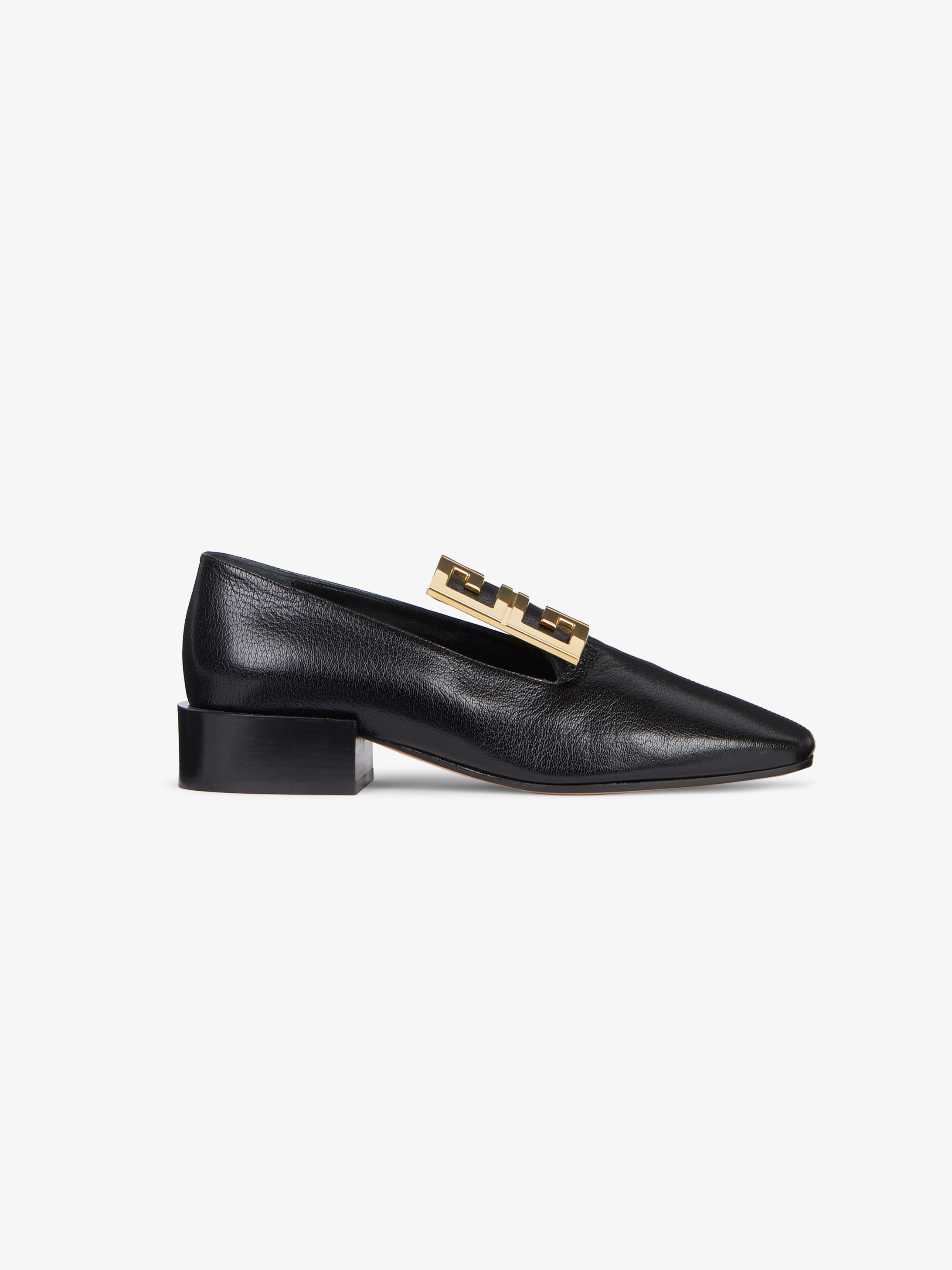 4G loafers in leather