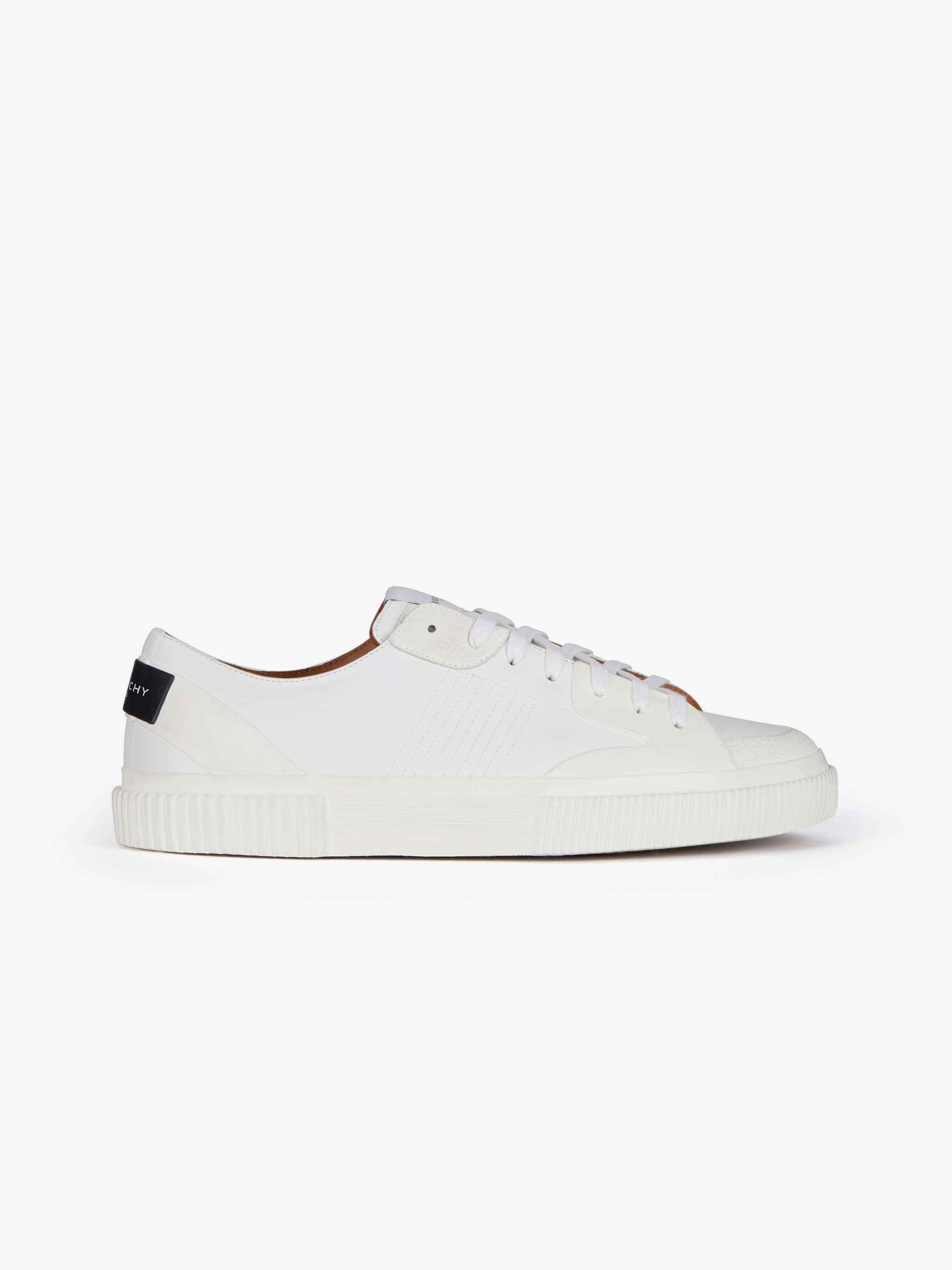 Low sneakers in leather