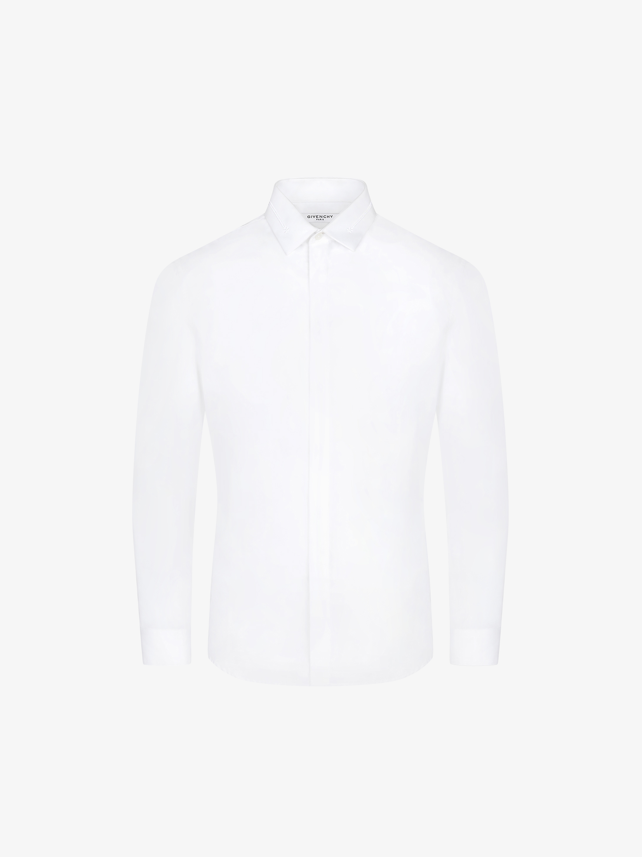 Poplin shirt with band and star embroidered