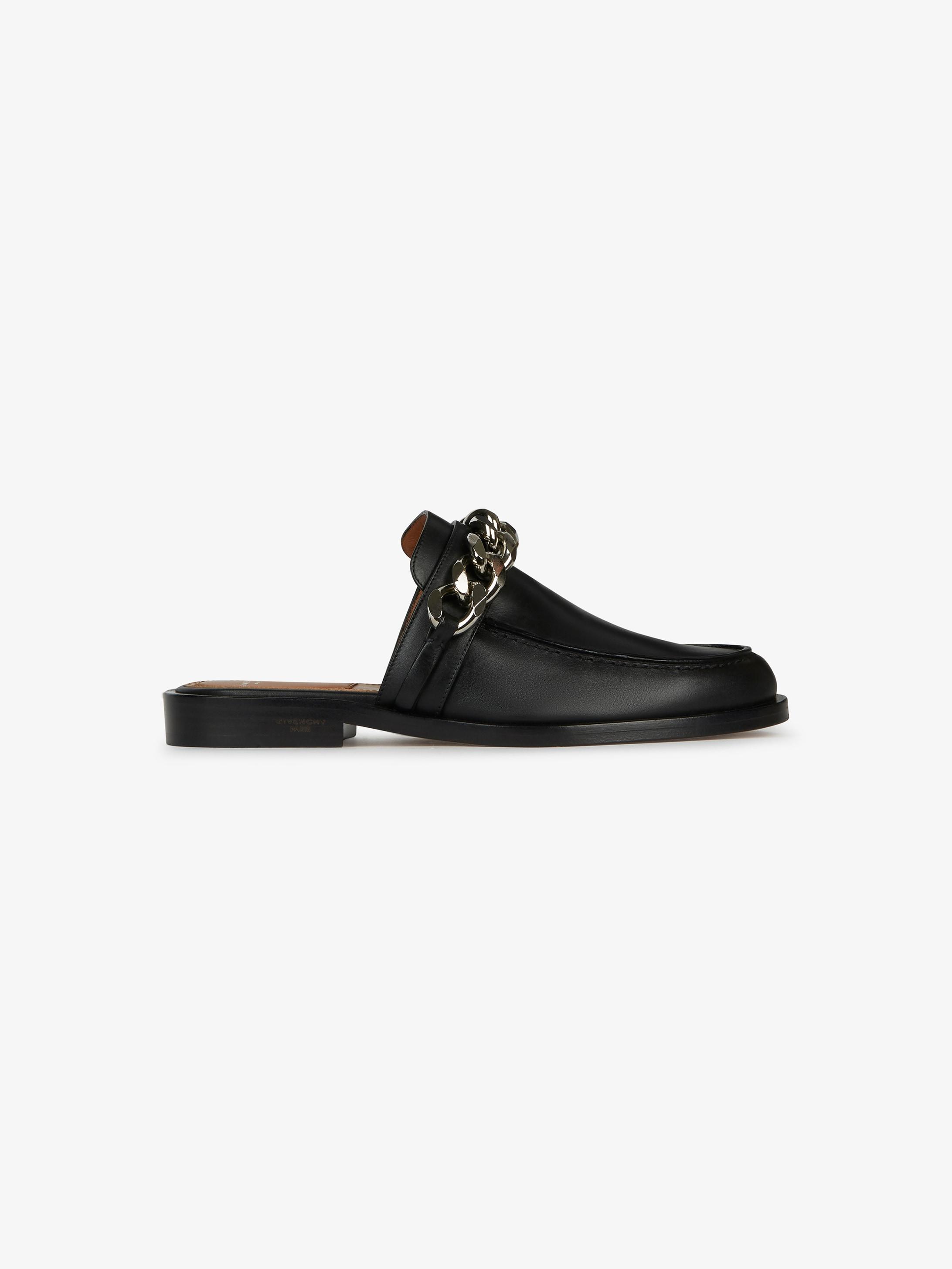 金属链穆勒鞋