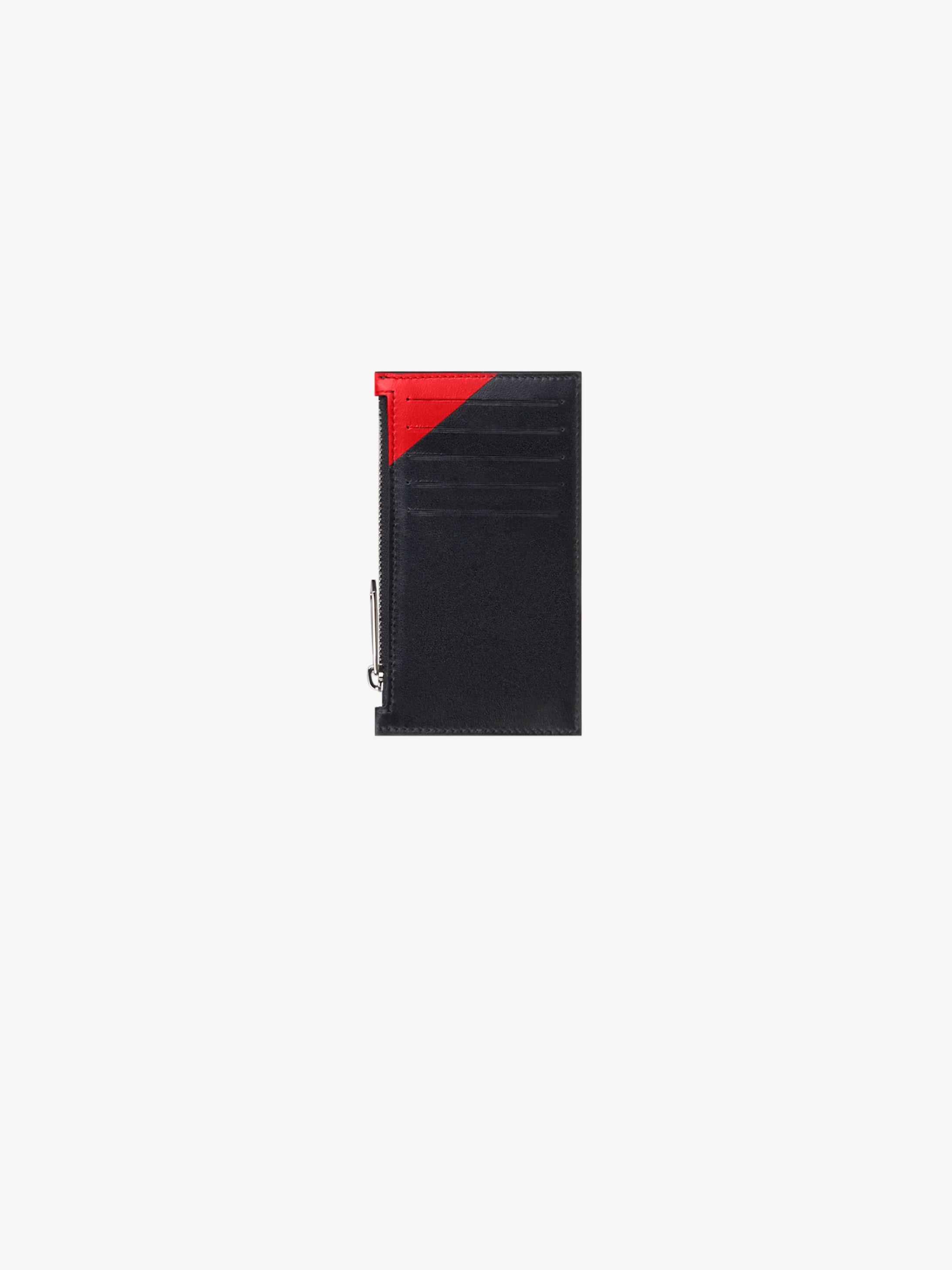 Porte-cartes zippé GIVENCHY en cuir