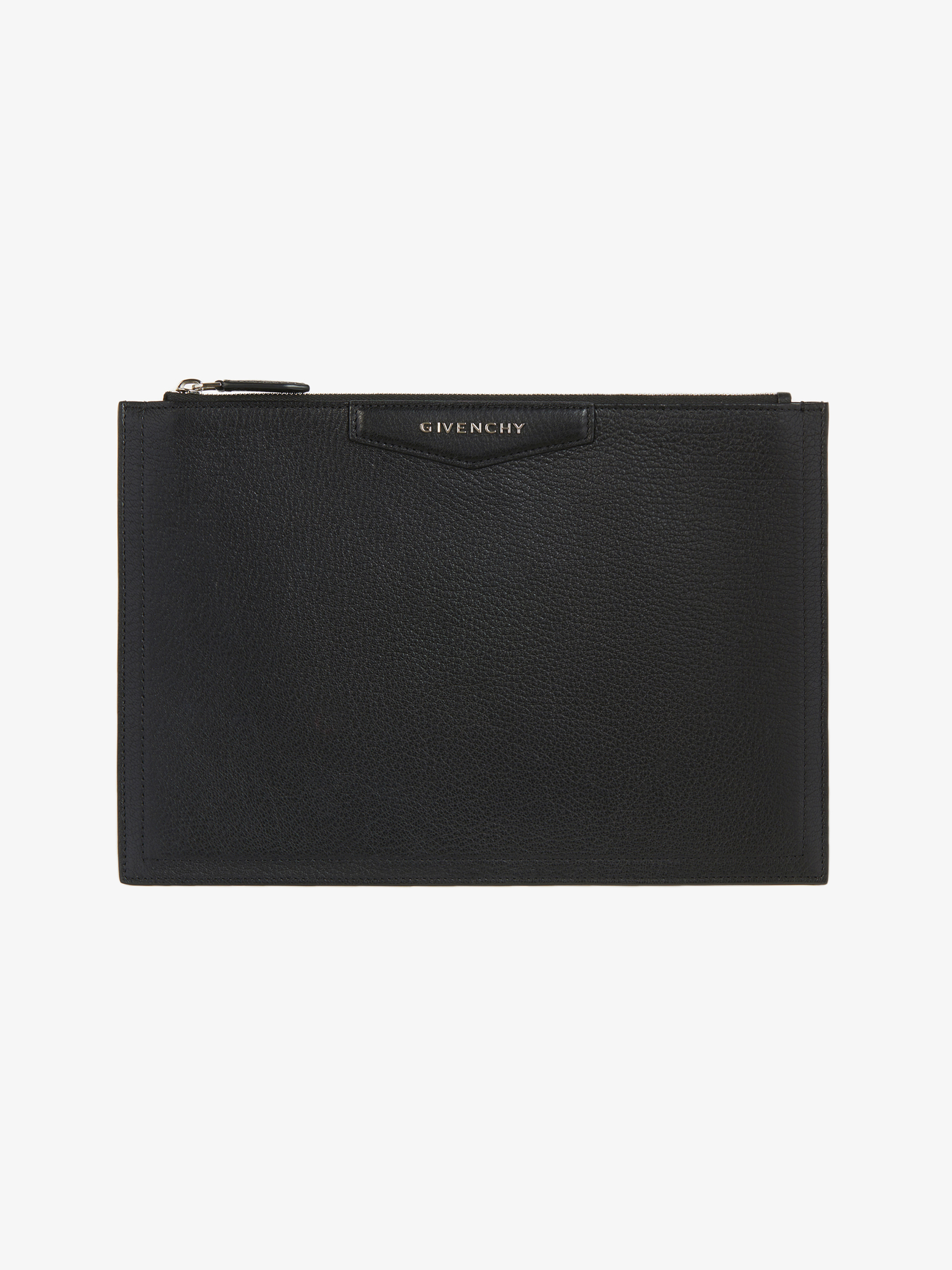 Antigona Medium pouch in grained leather