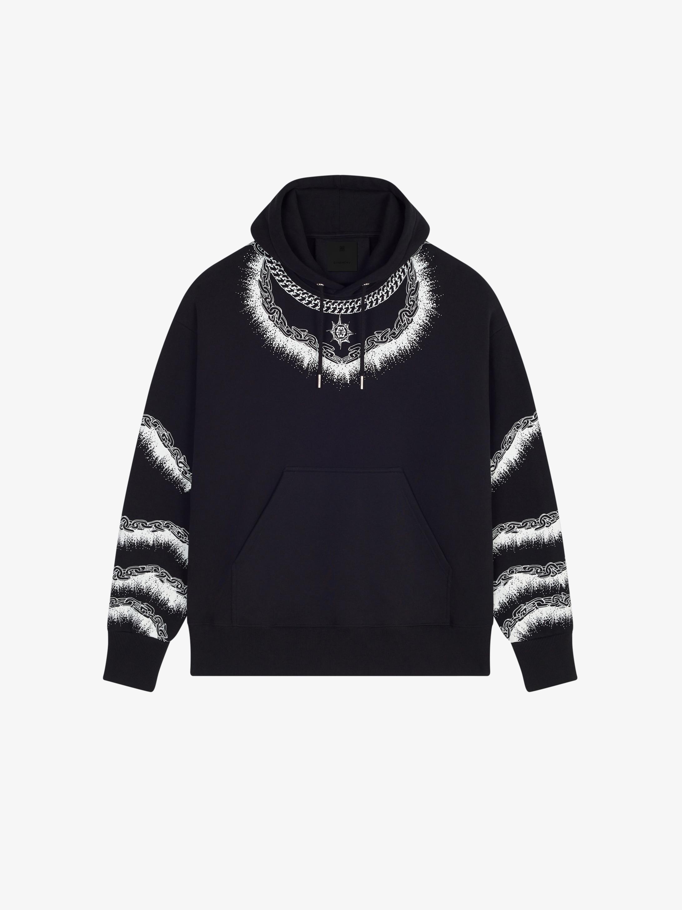 Oversized chain printed hoodie
