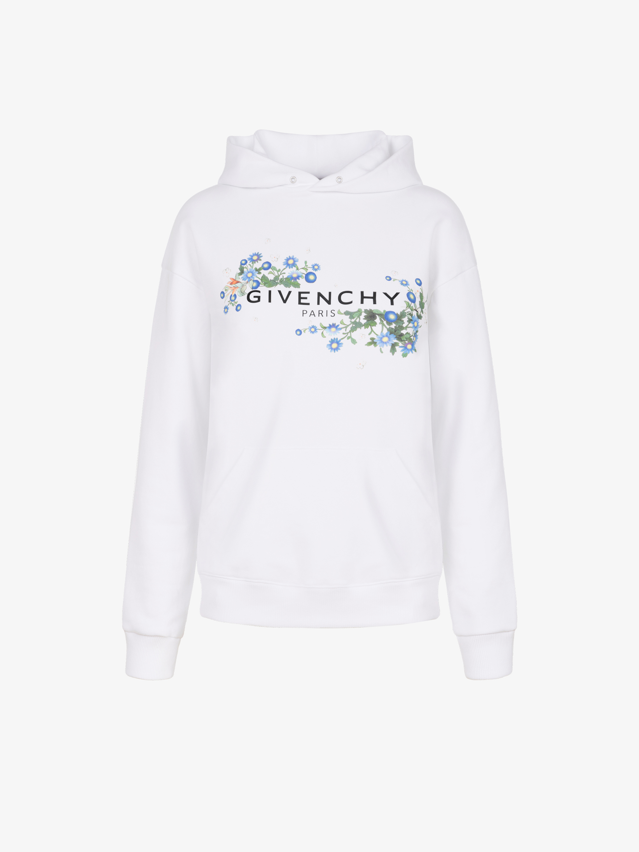 GIVENCHY PARIS floral printed hoodie
