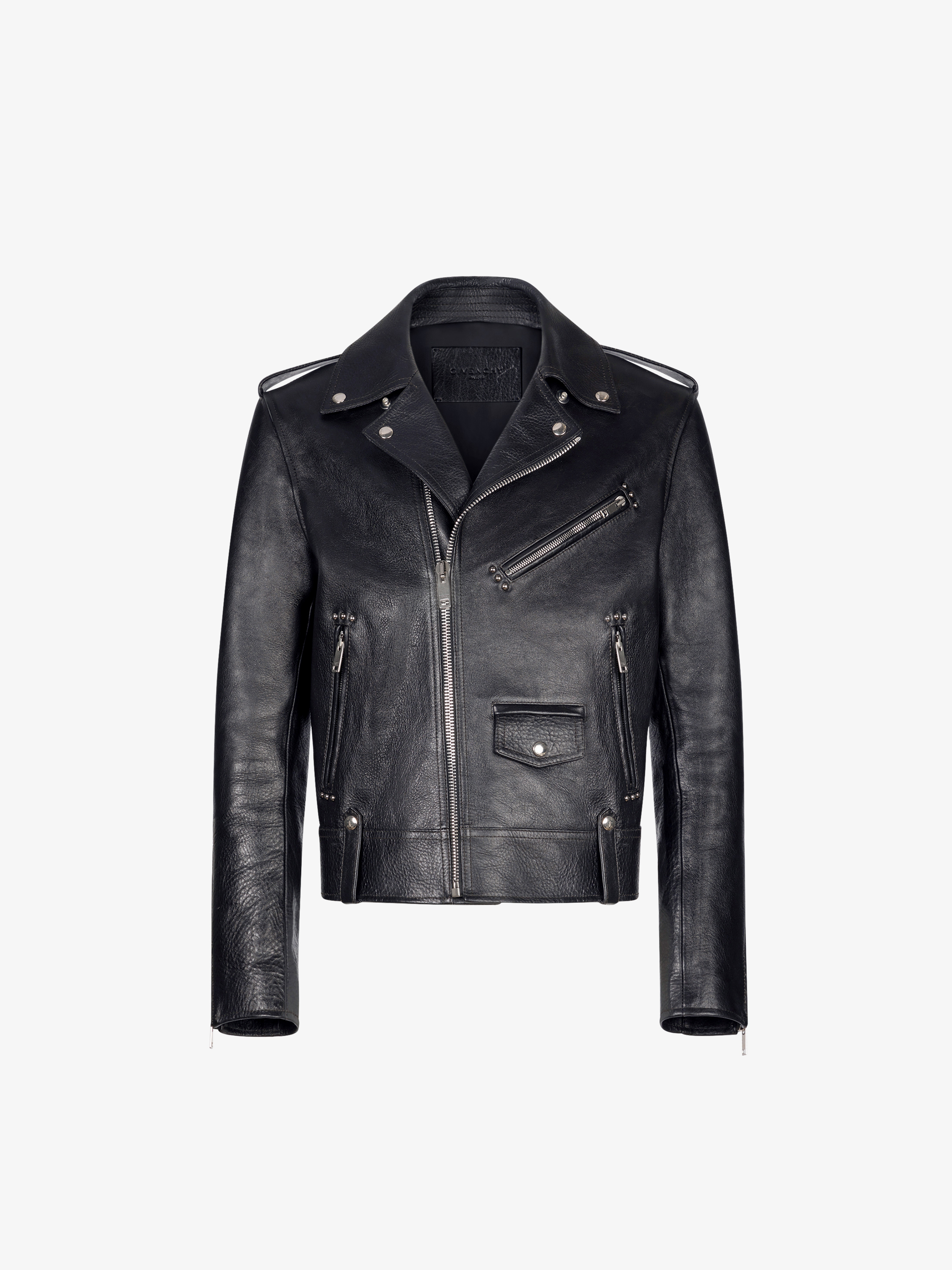 Perfecto jacket in leather with metallic details