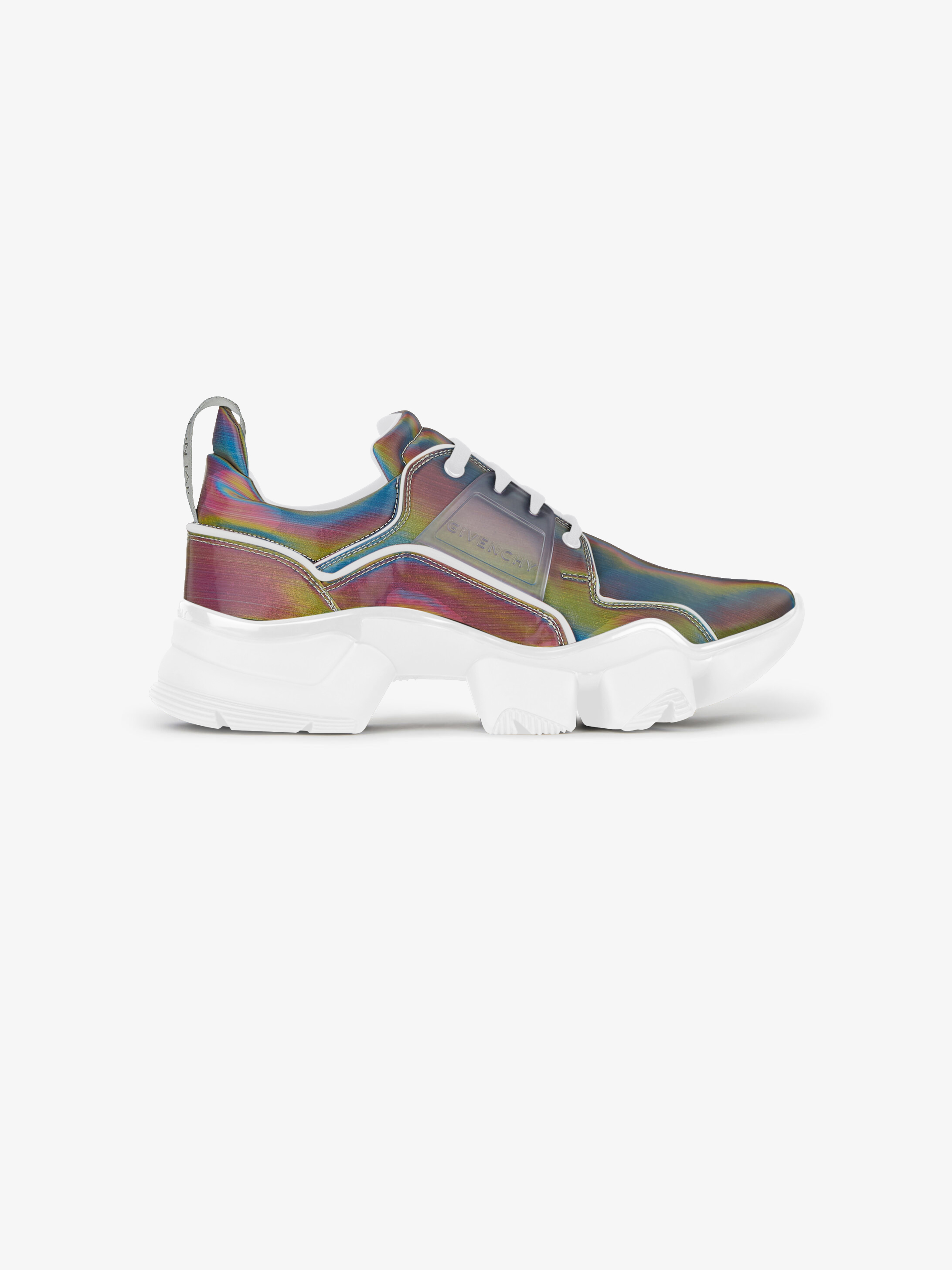 JAW low sneakers in holographic canvas