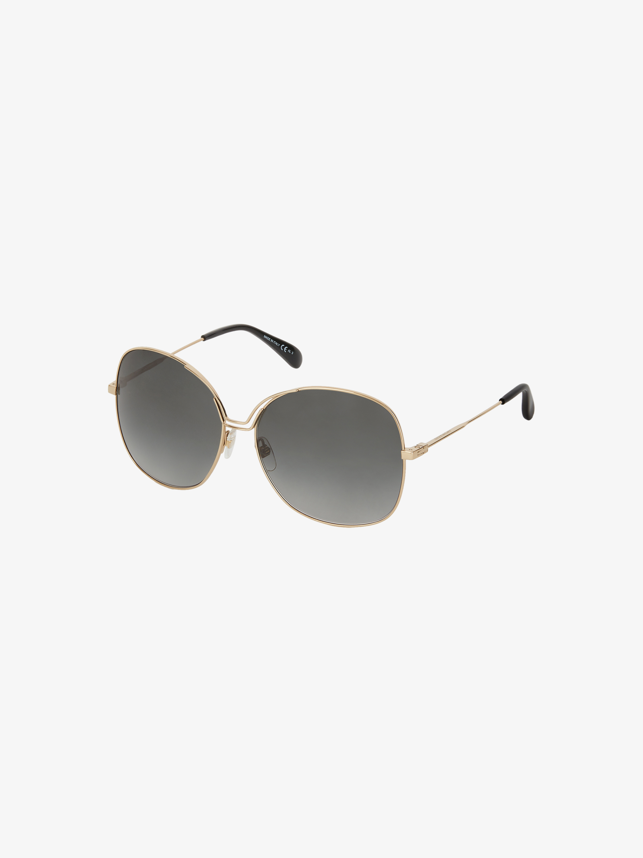 Two tone GV Bow sunglasses in metal