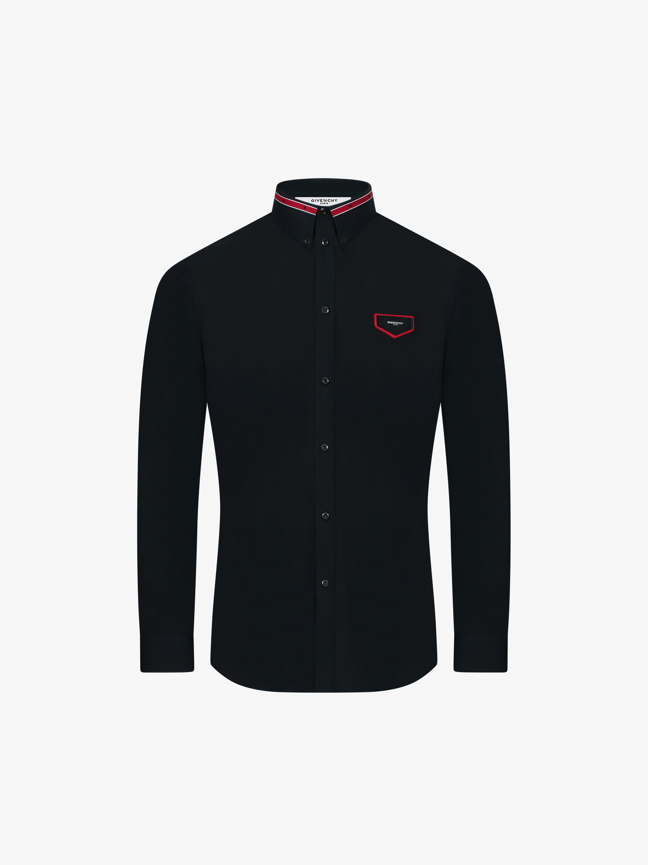 Poplin shirt with patch and iconic band