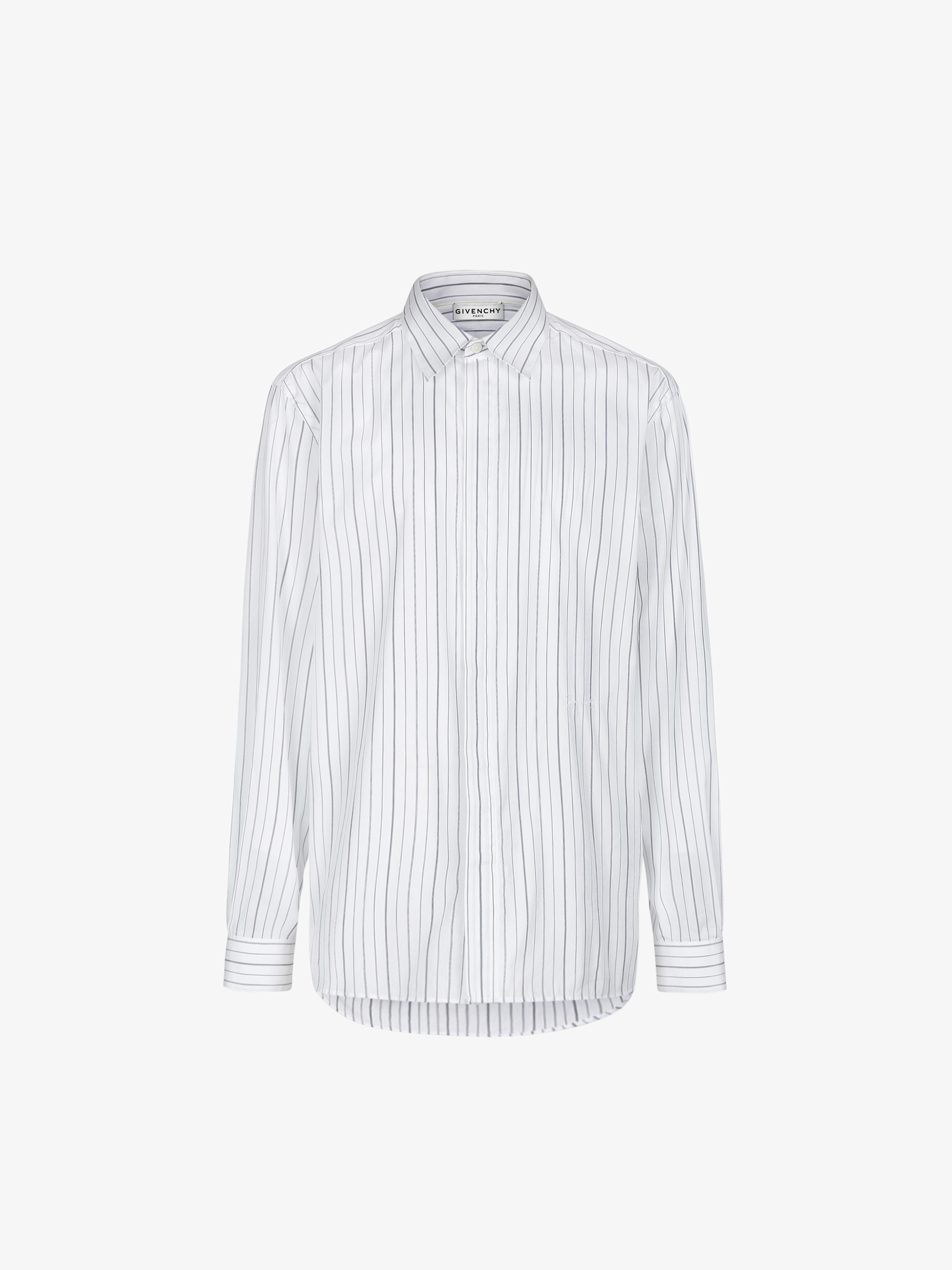 GIVENCHY signature embroidered striped shirt