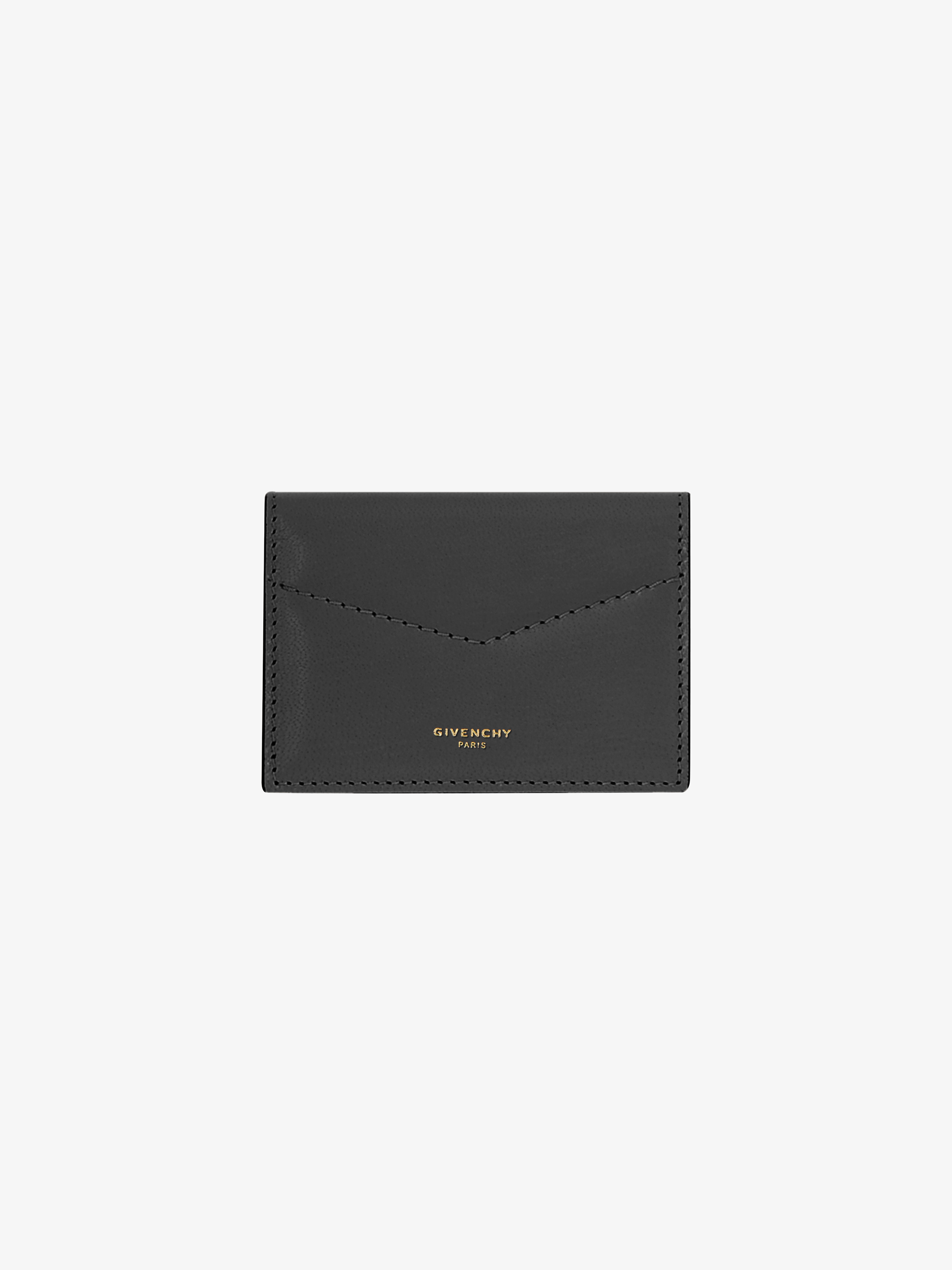 Edge wallet in two tone leather
