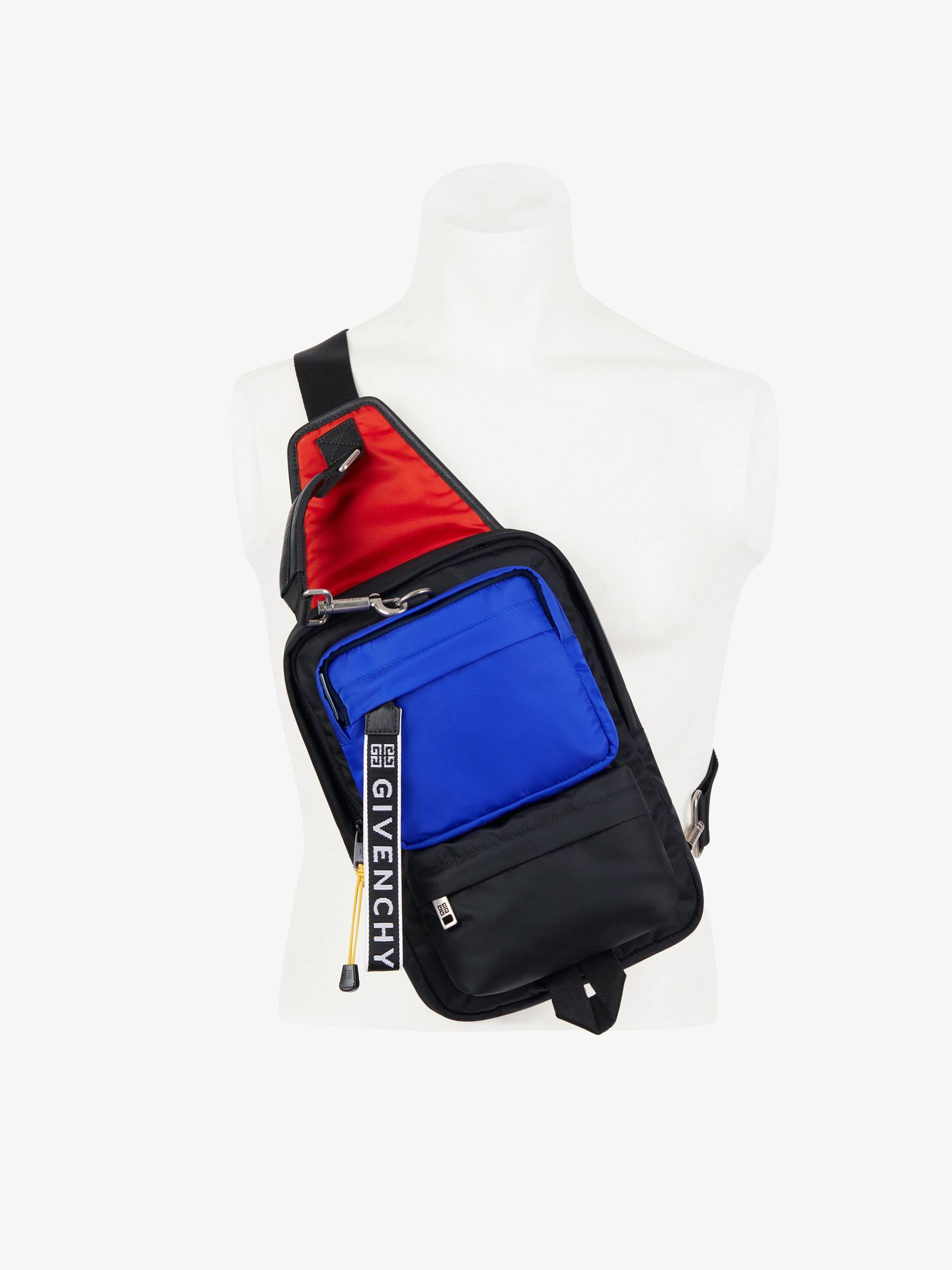Tricolor sling bag in nylon