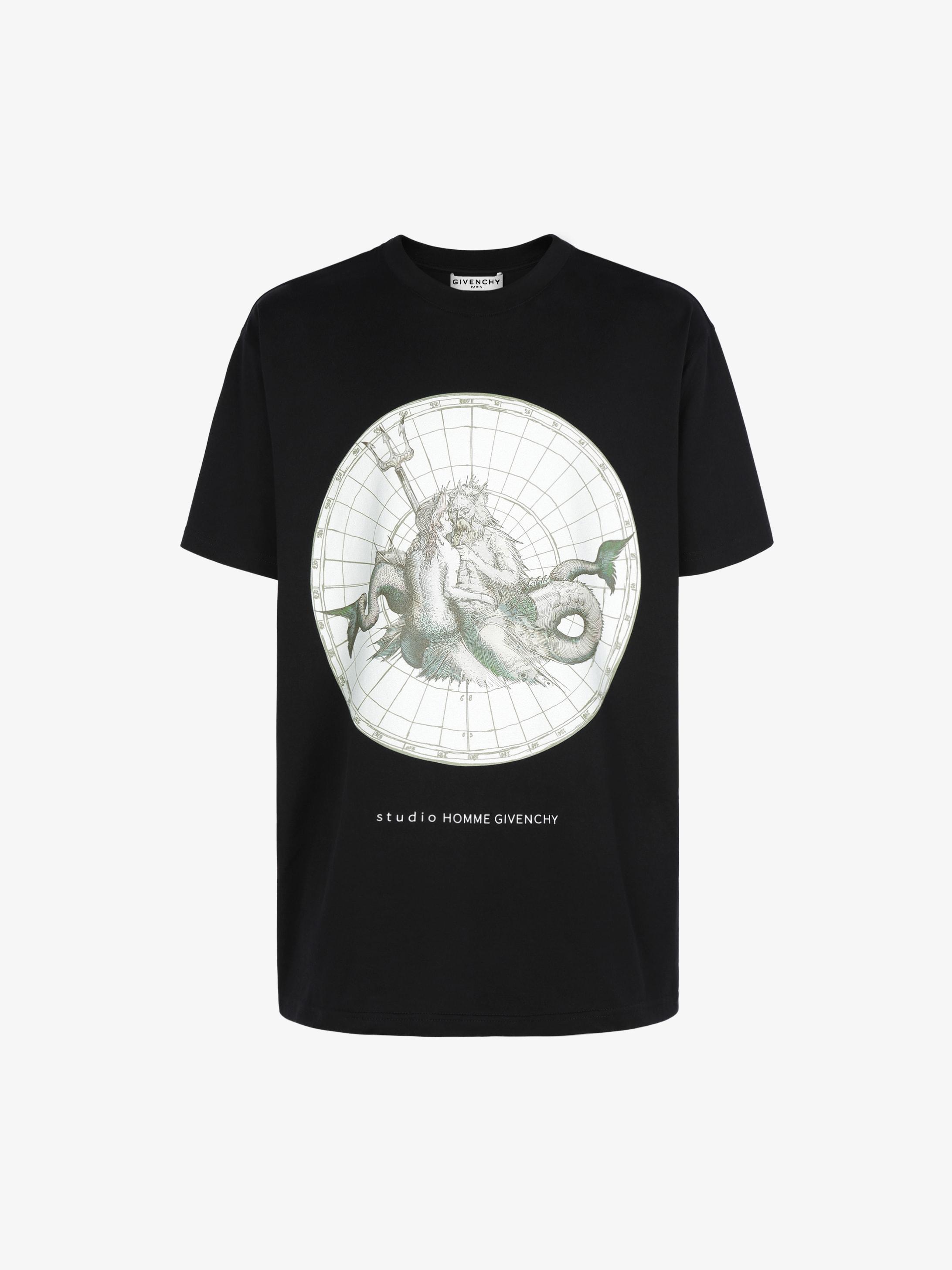 T-shirt oversized imprimé Poséidon