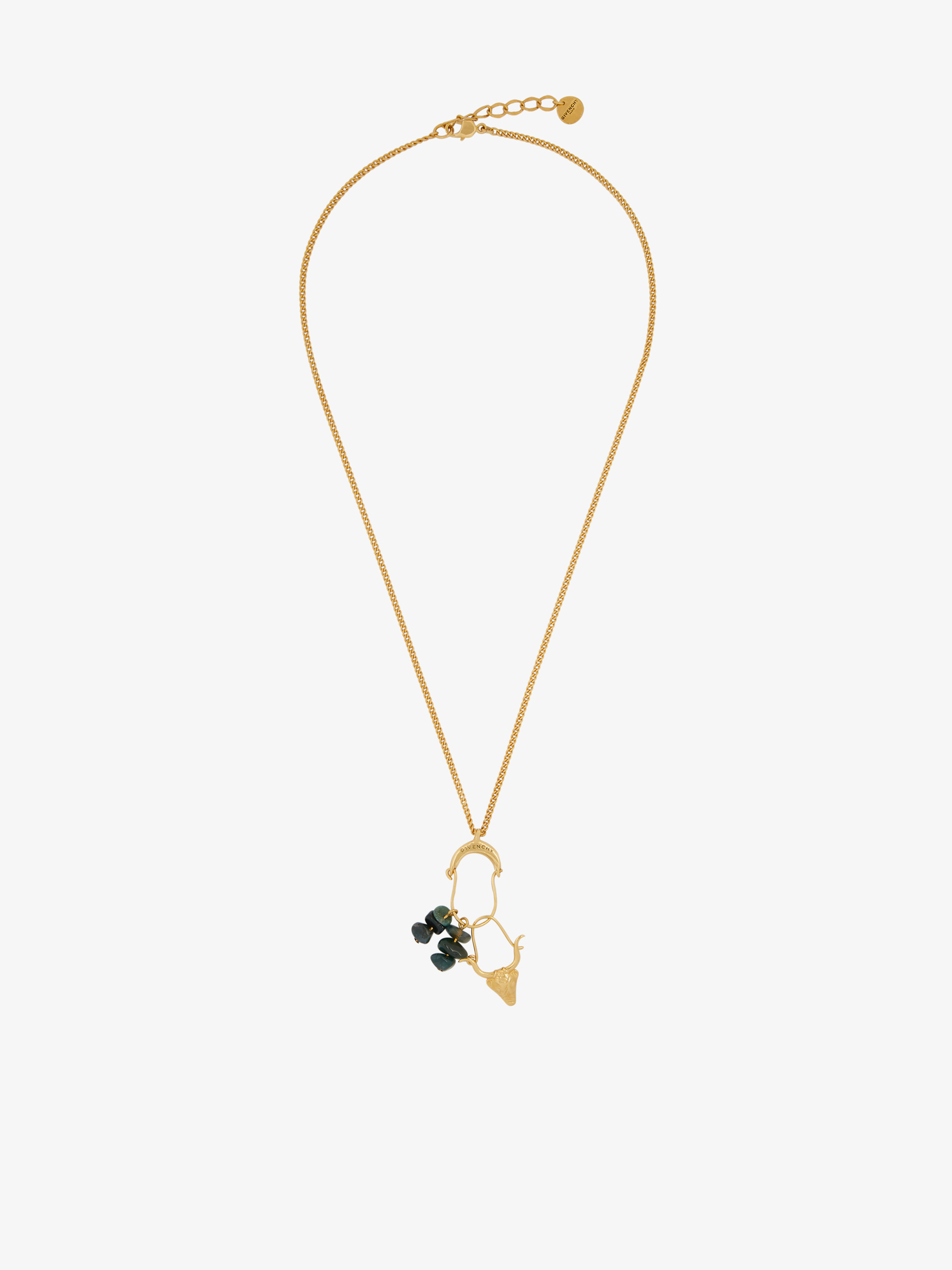 Necklace with Taurus charms