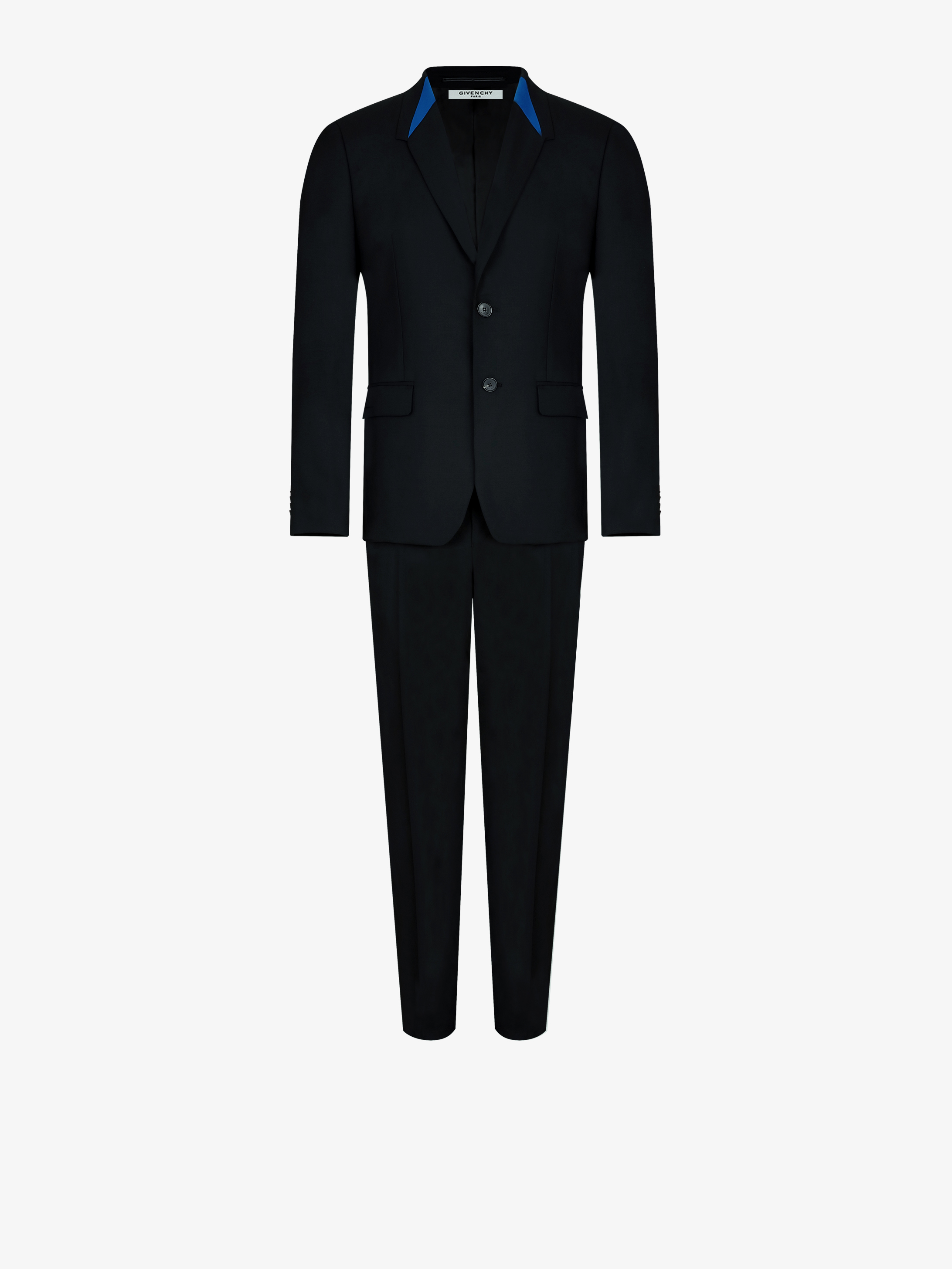 Regular fit suit with graphic collar