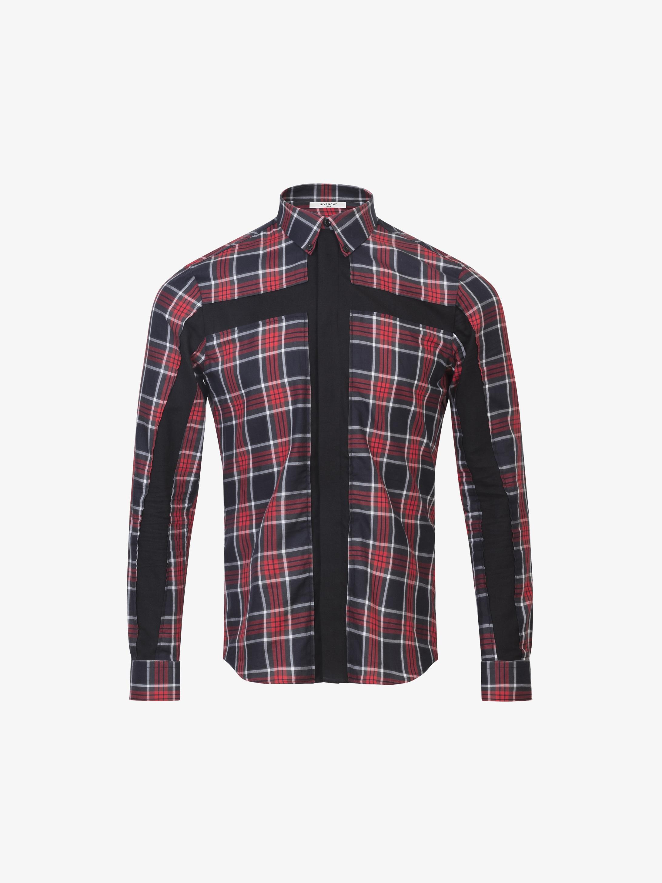 Cross design slim fit shirt