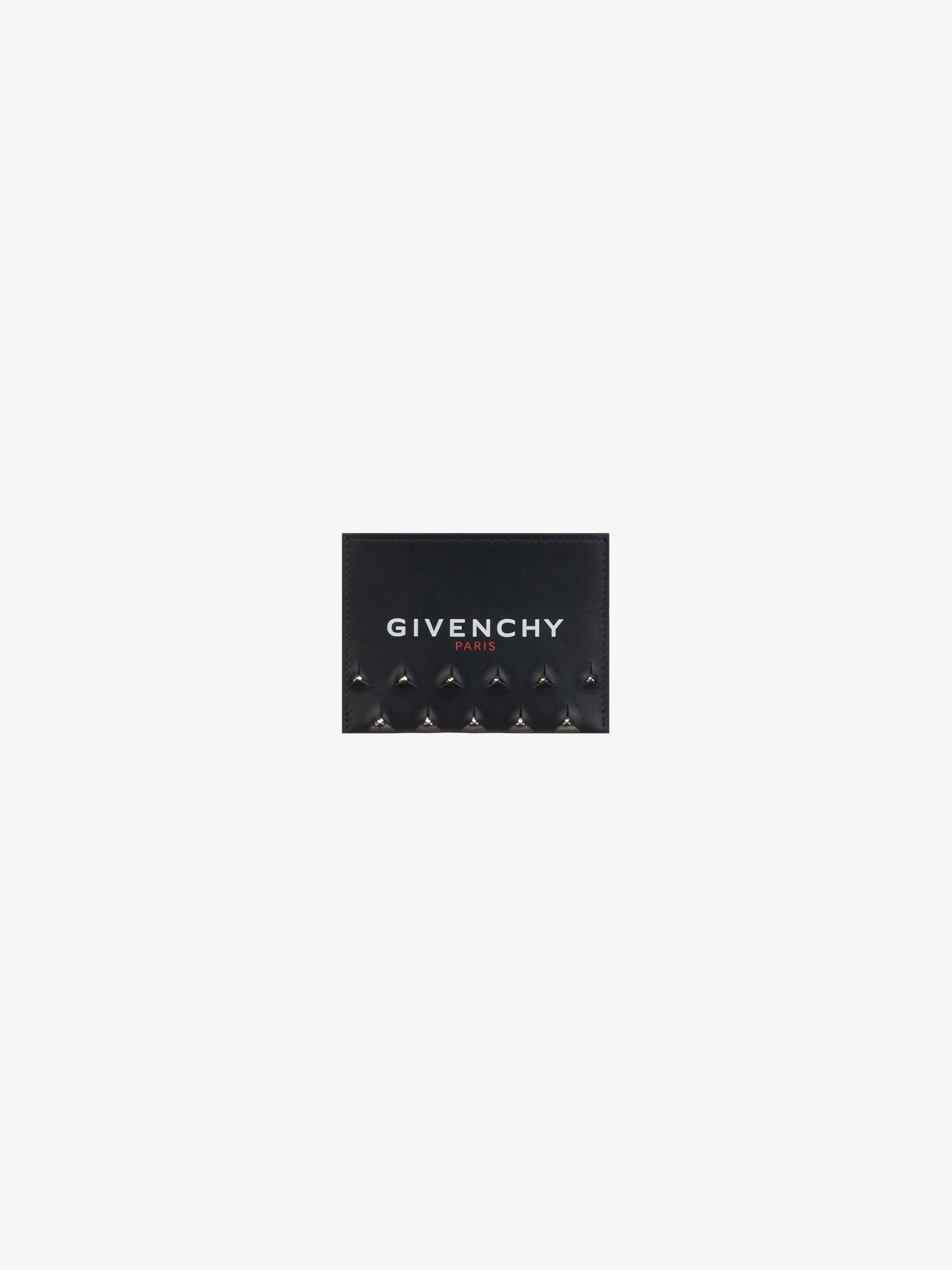 Porte-cartes GIVENCHY en cuir avec clous