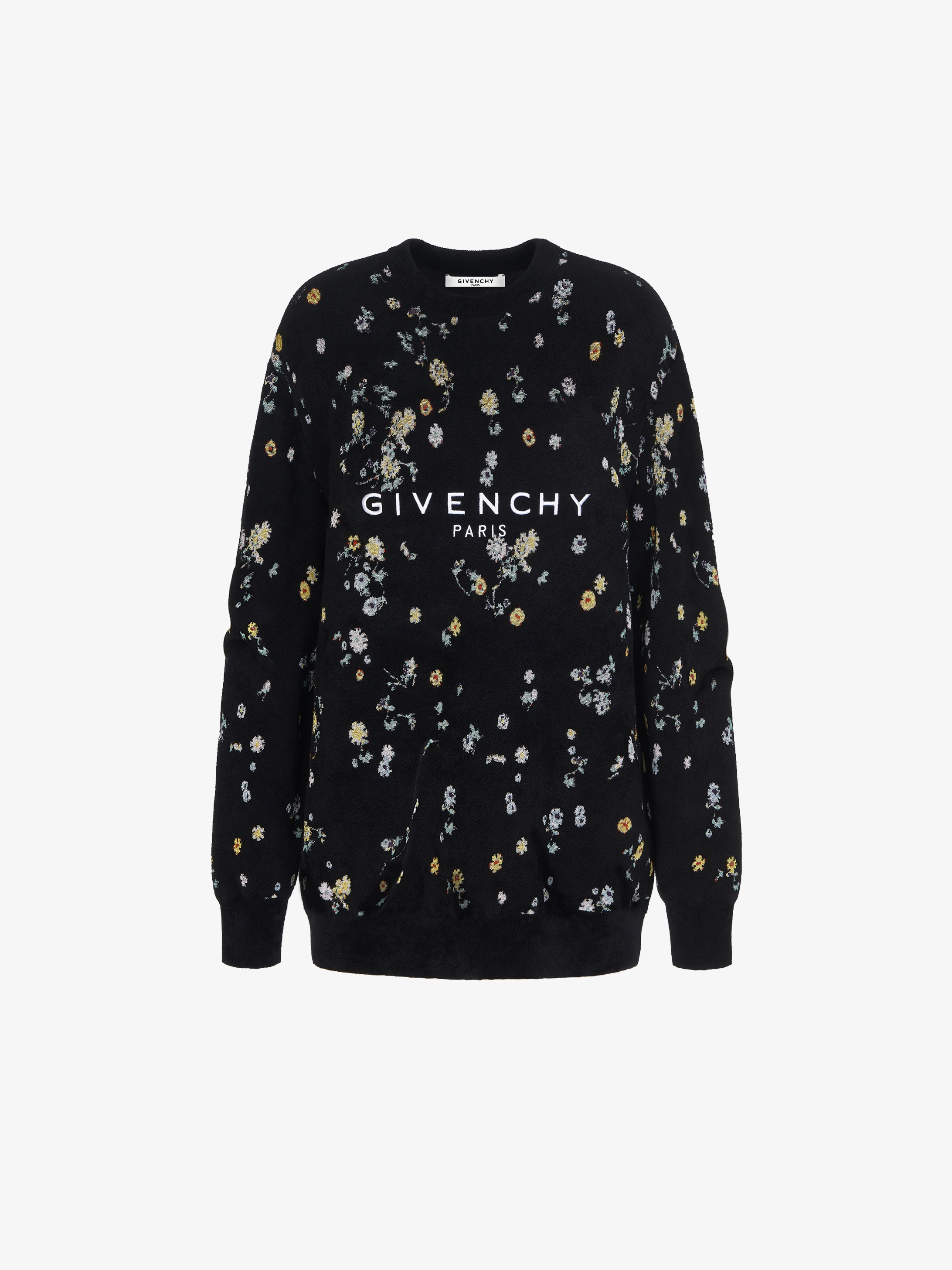 GIVENCHY PARIS oversized sweater with floral pattern