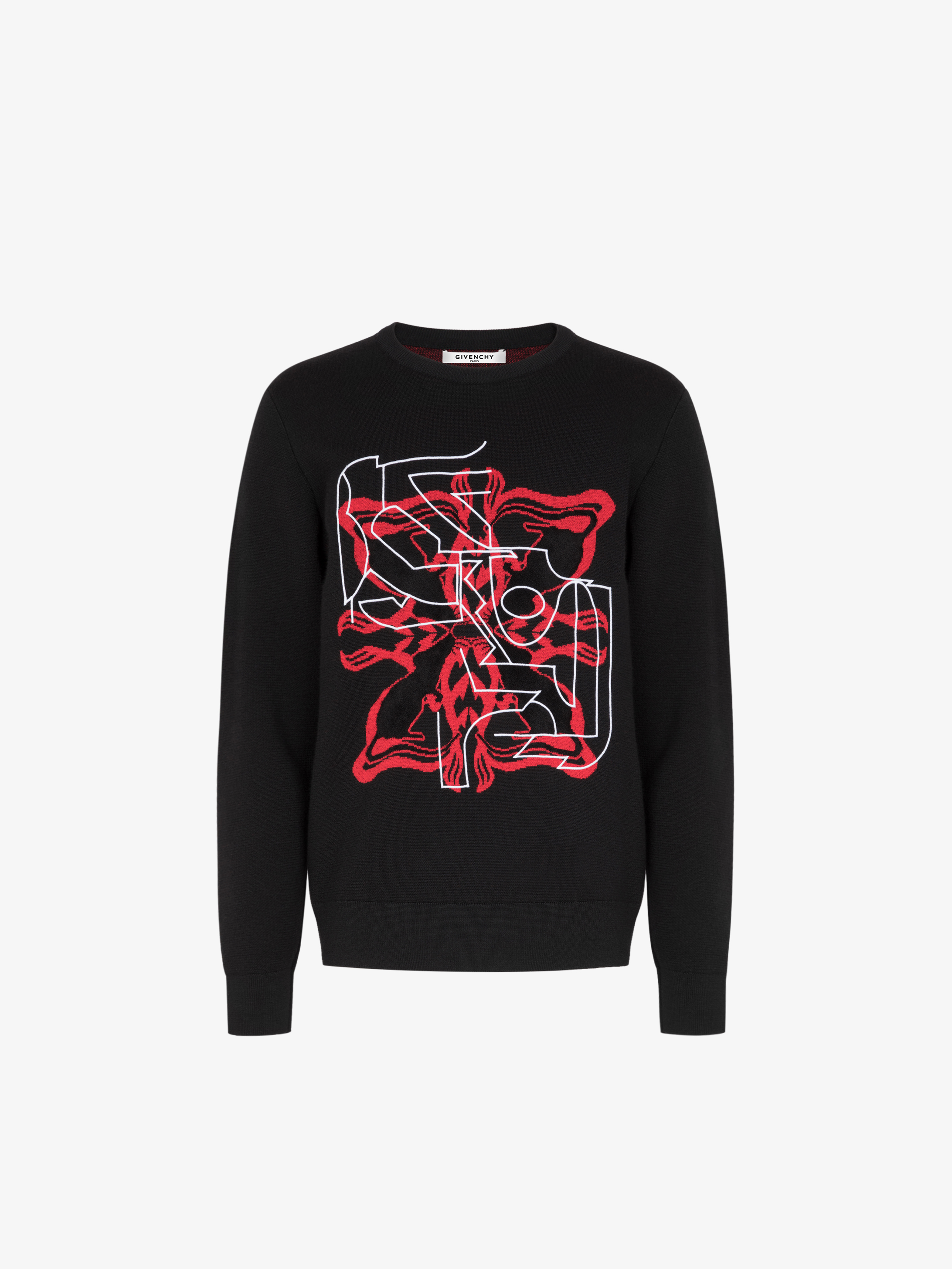 Rat sign sweater in jacquard