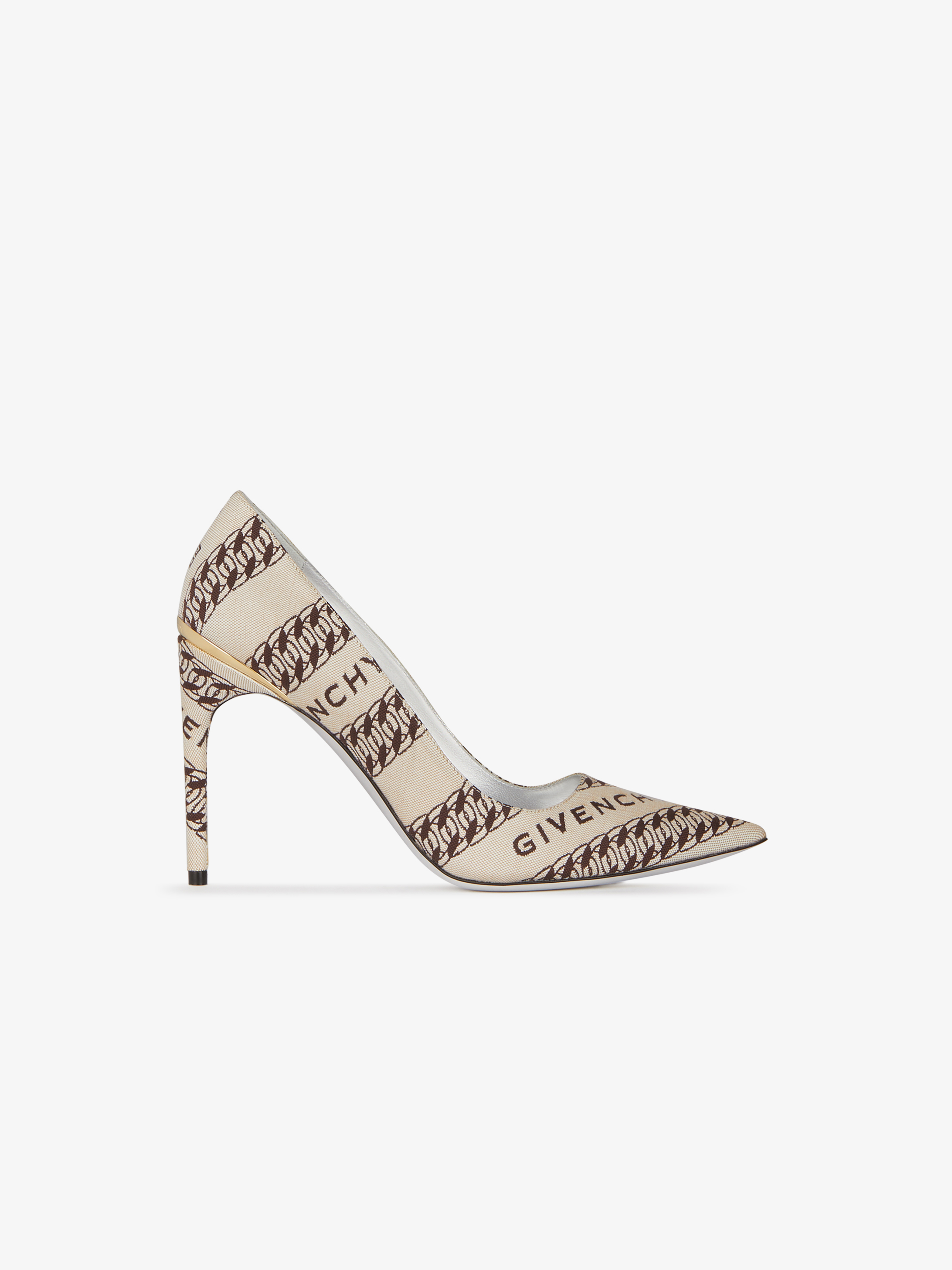 GIVENCHY Chain M-pumps in canvas