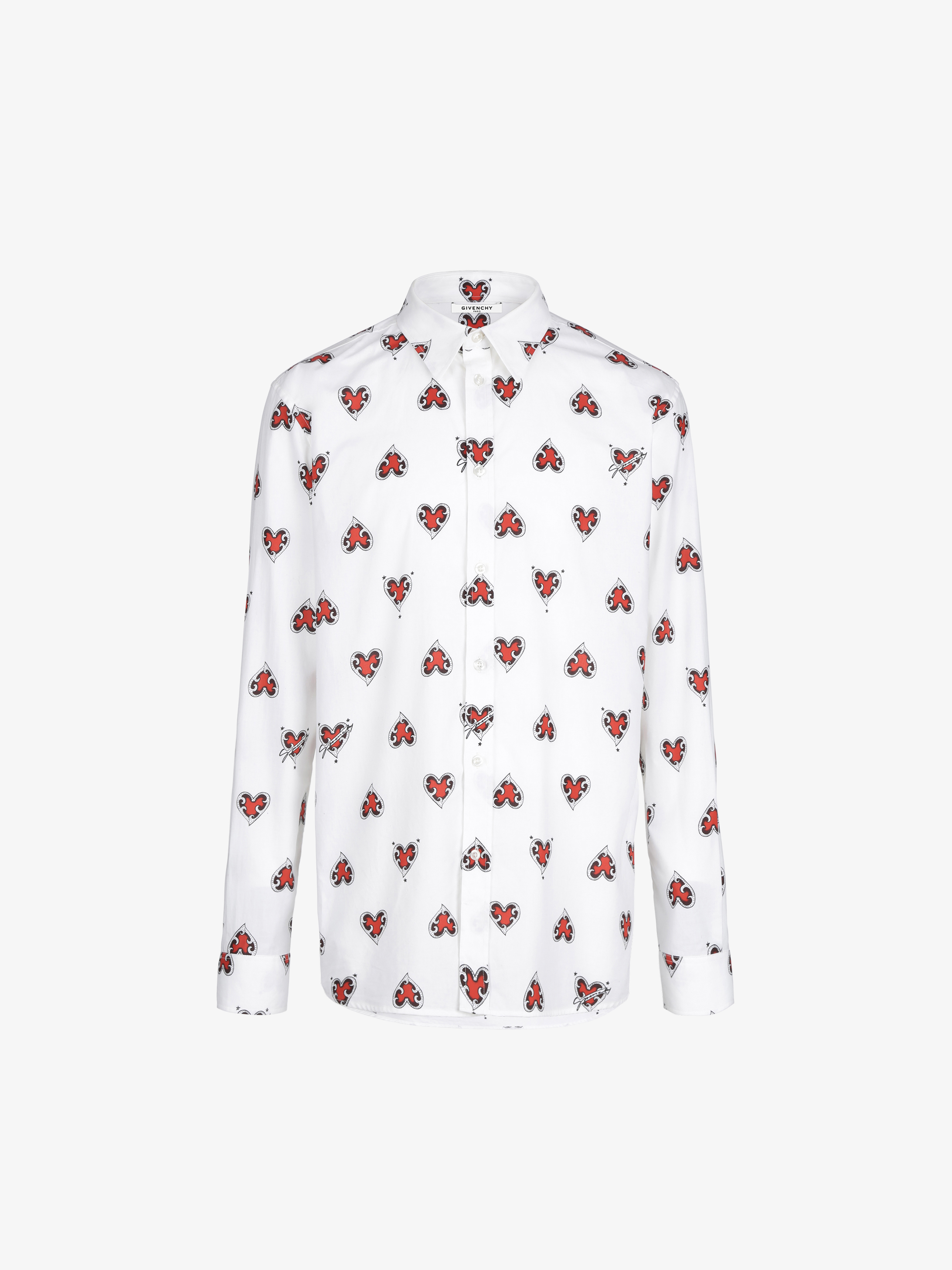 Heart printed shirt in cotton
