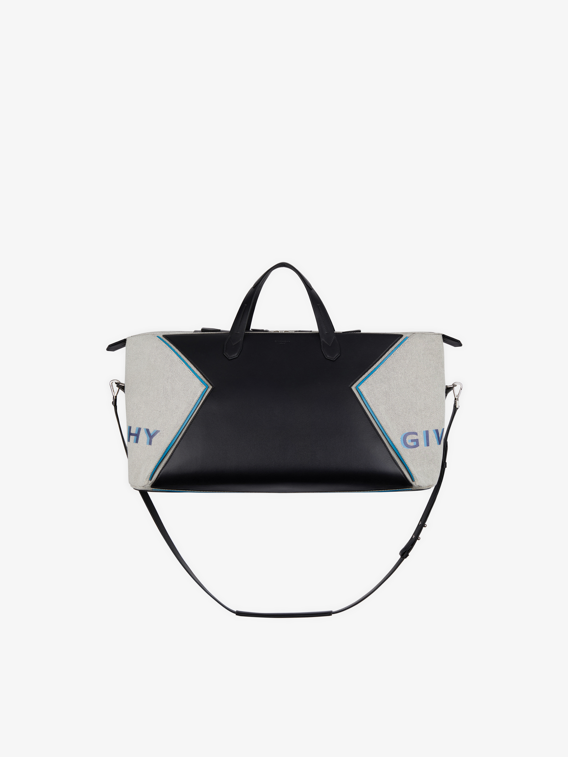 GIVENCHY PARIS Bond weekender bag in leather and canvas