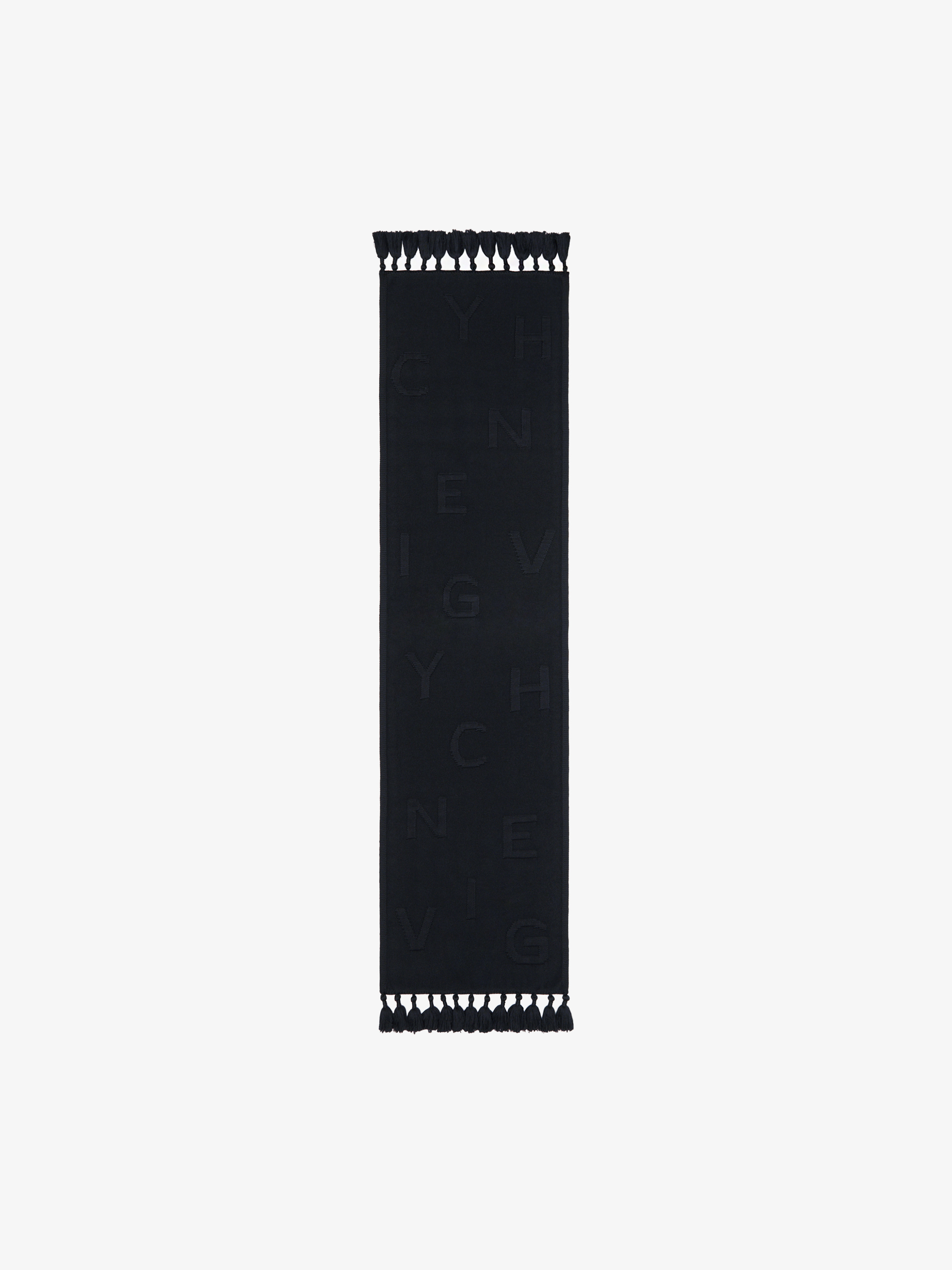 GIVENCHY chain scarf in wool and cashmere