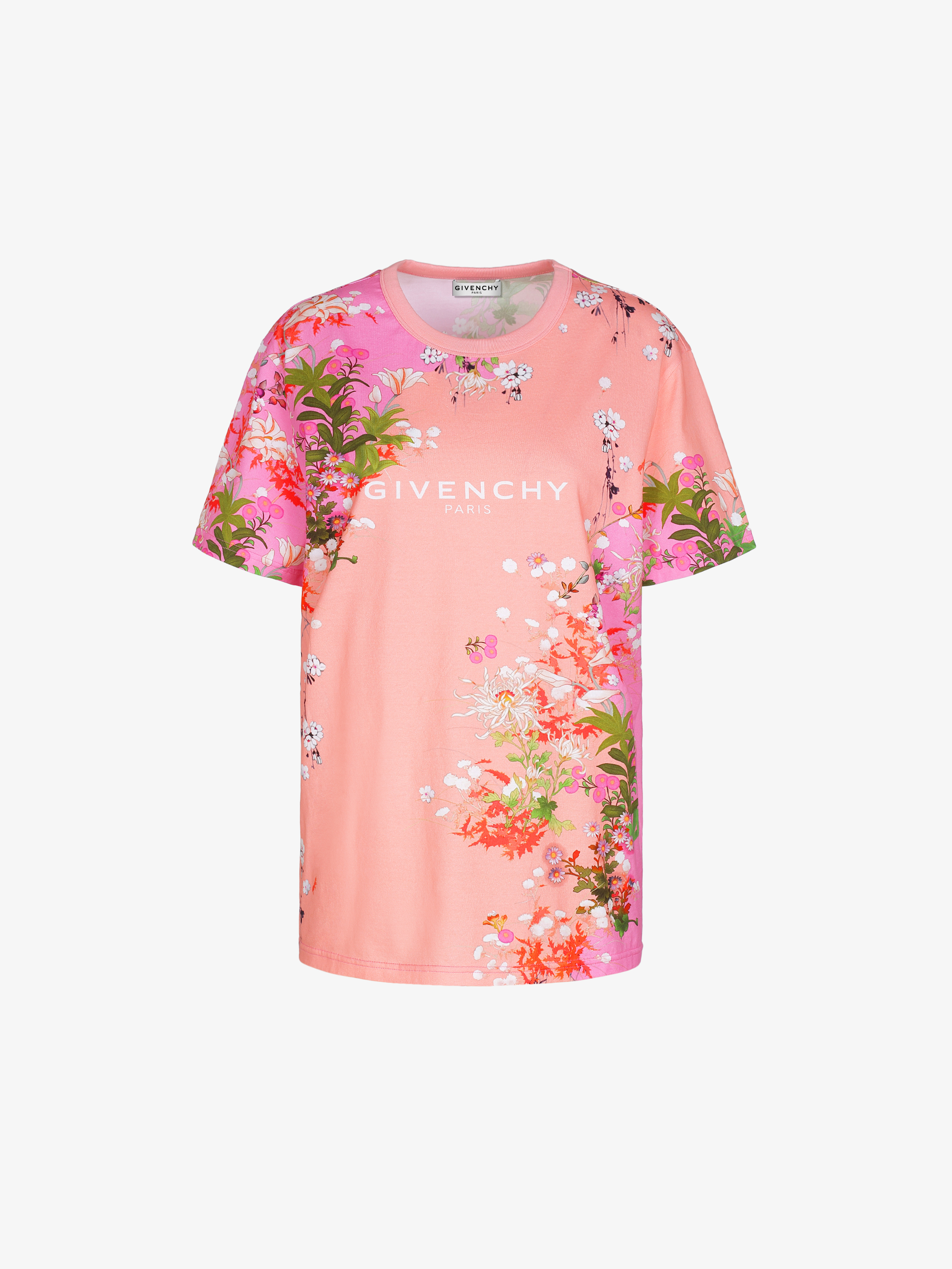 T-shirt masculin imprimé GIVENCHY PARIS floral