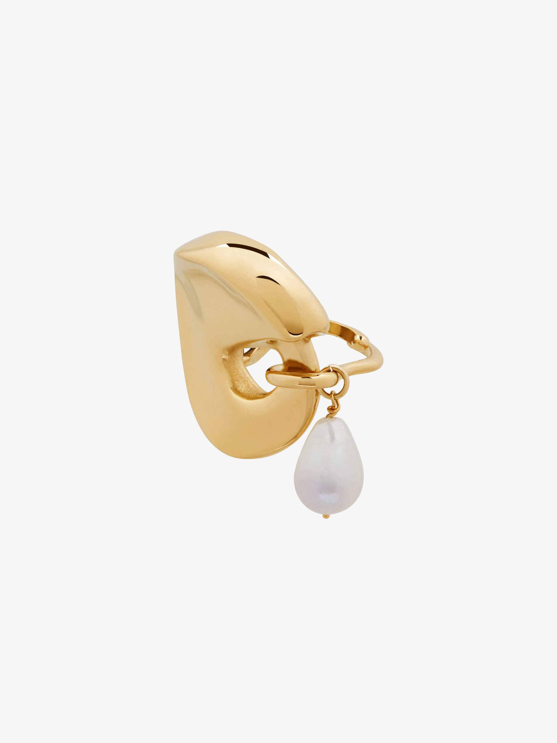 Cloud adjustable ring with pearl