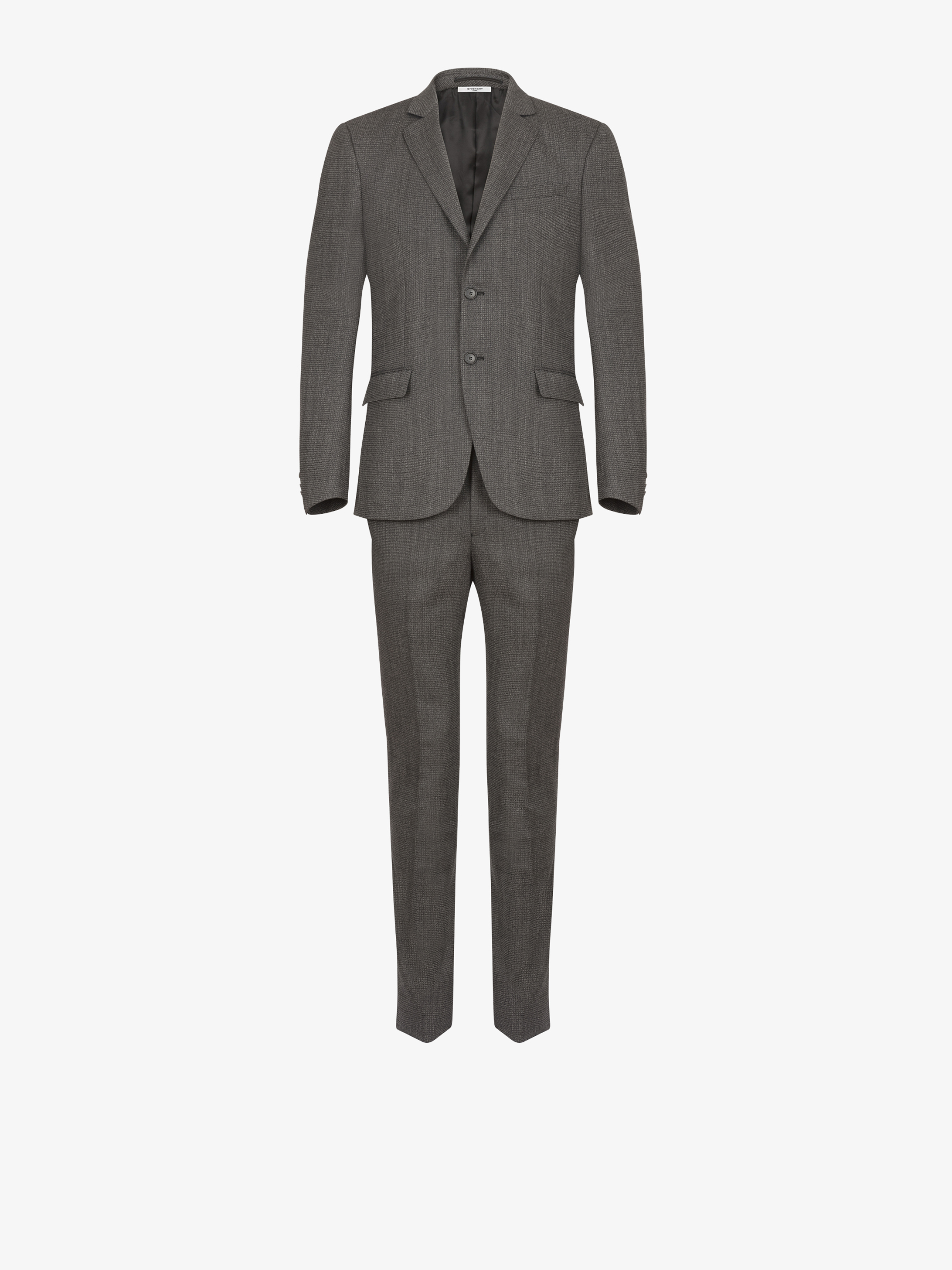 Slim fit suit in technical wool