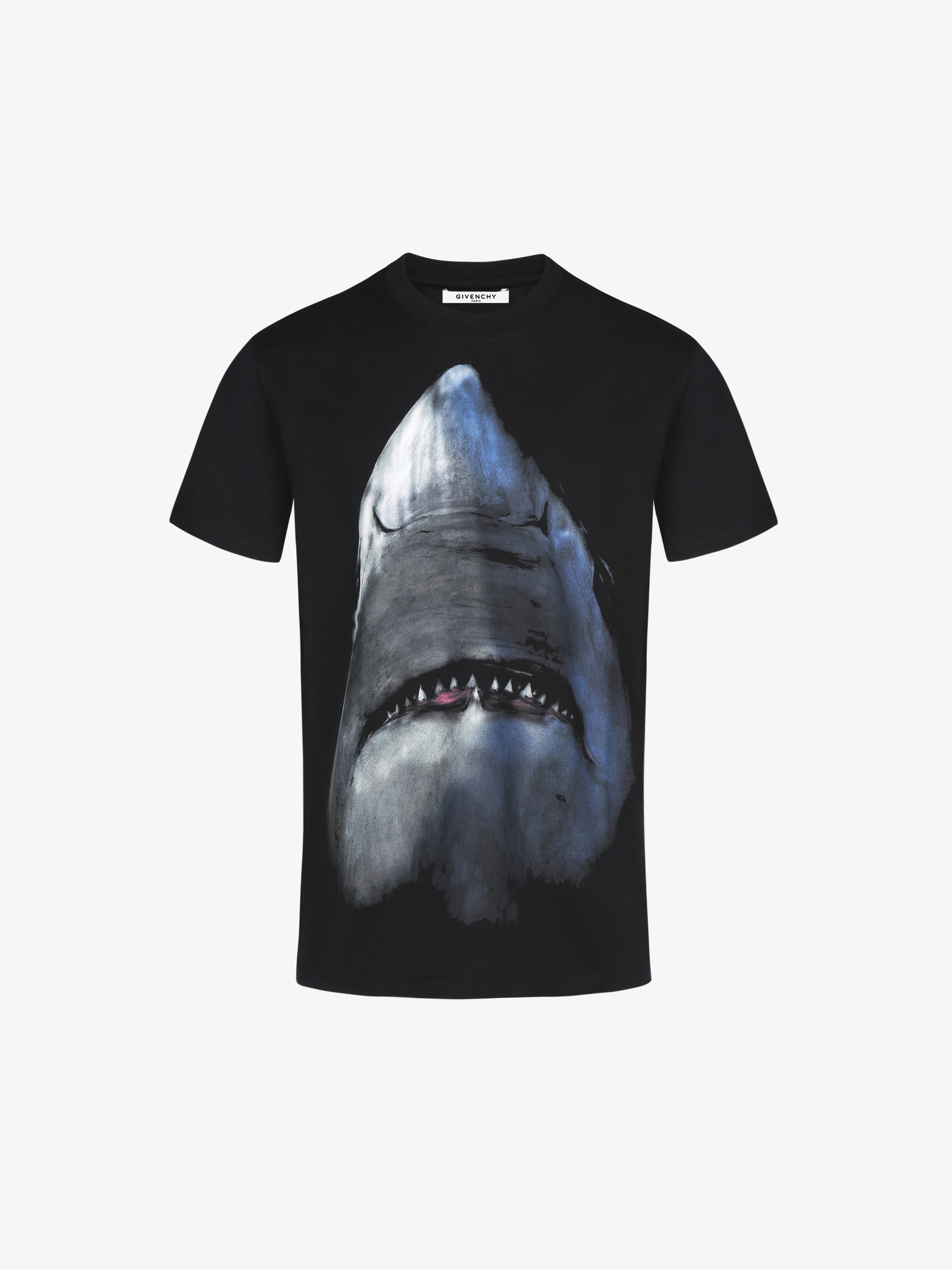 givenchy shark printed t shirt givenchy paris. Black Bedroom Furniture Sets. Home Design Ideas