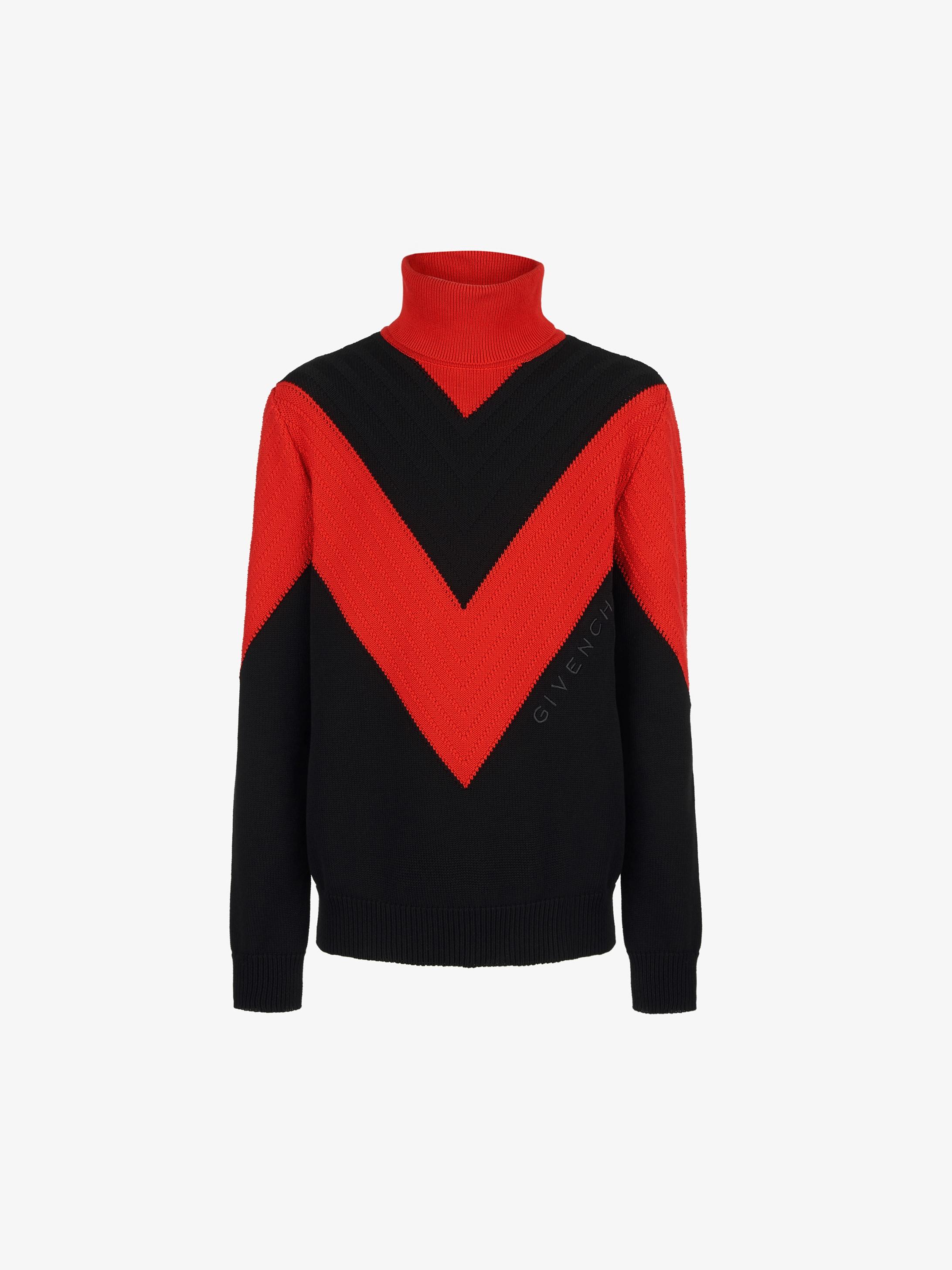 GIVENCHY V detailed turtleneck sweater