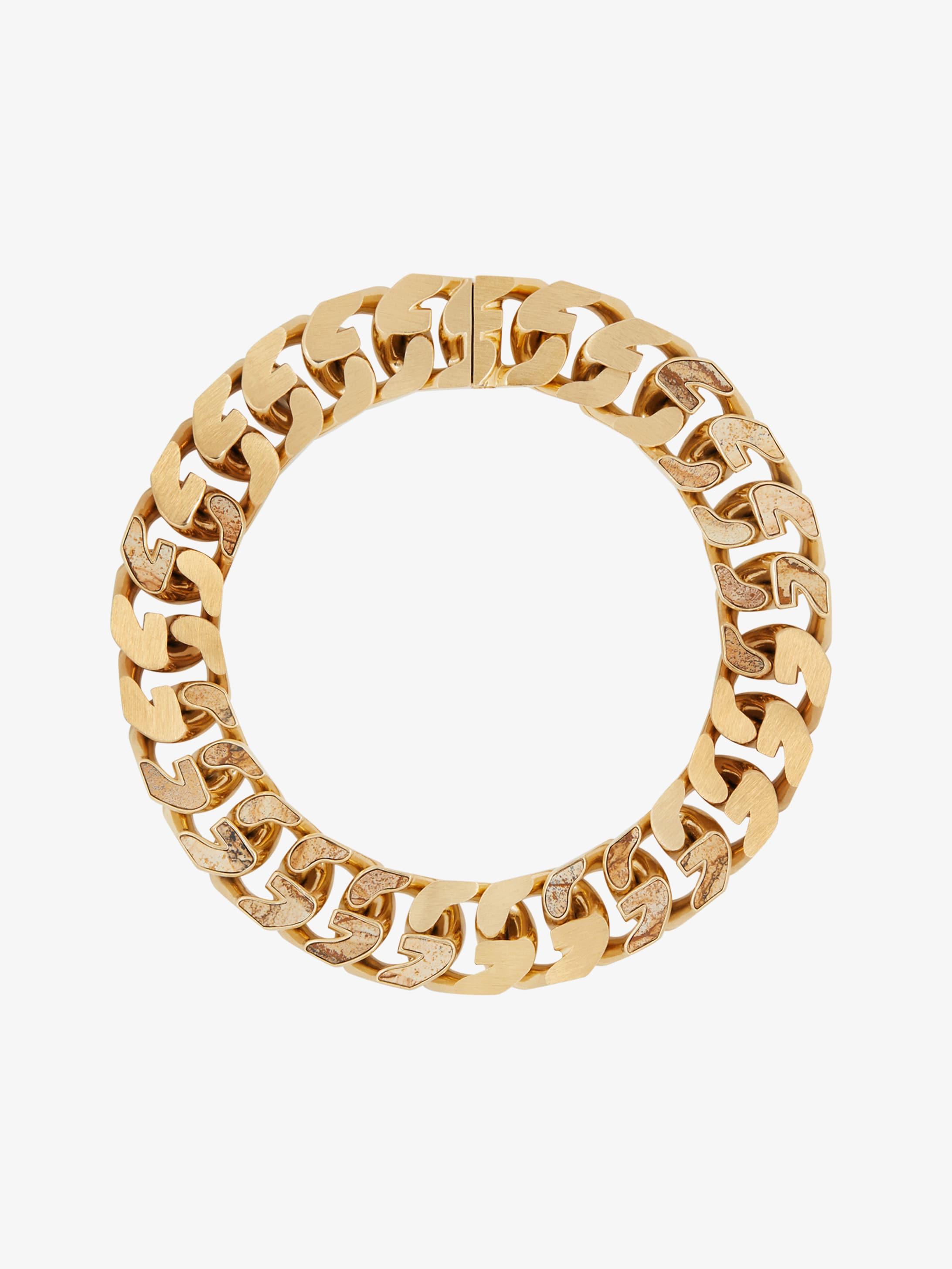 G Chain jasper set necklace