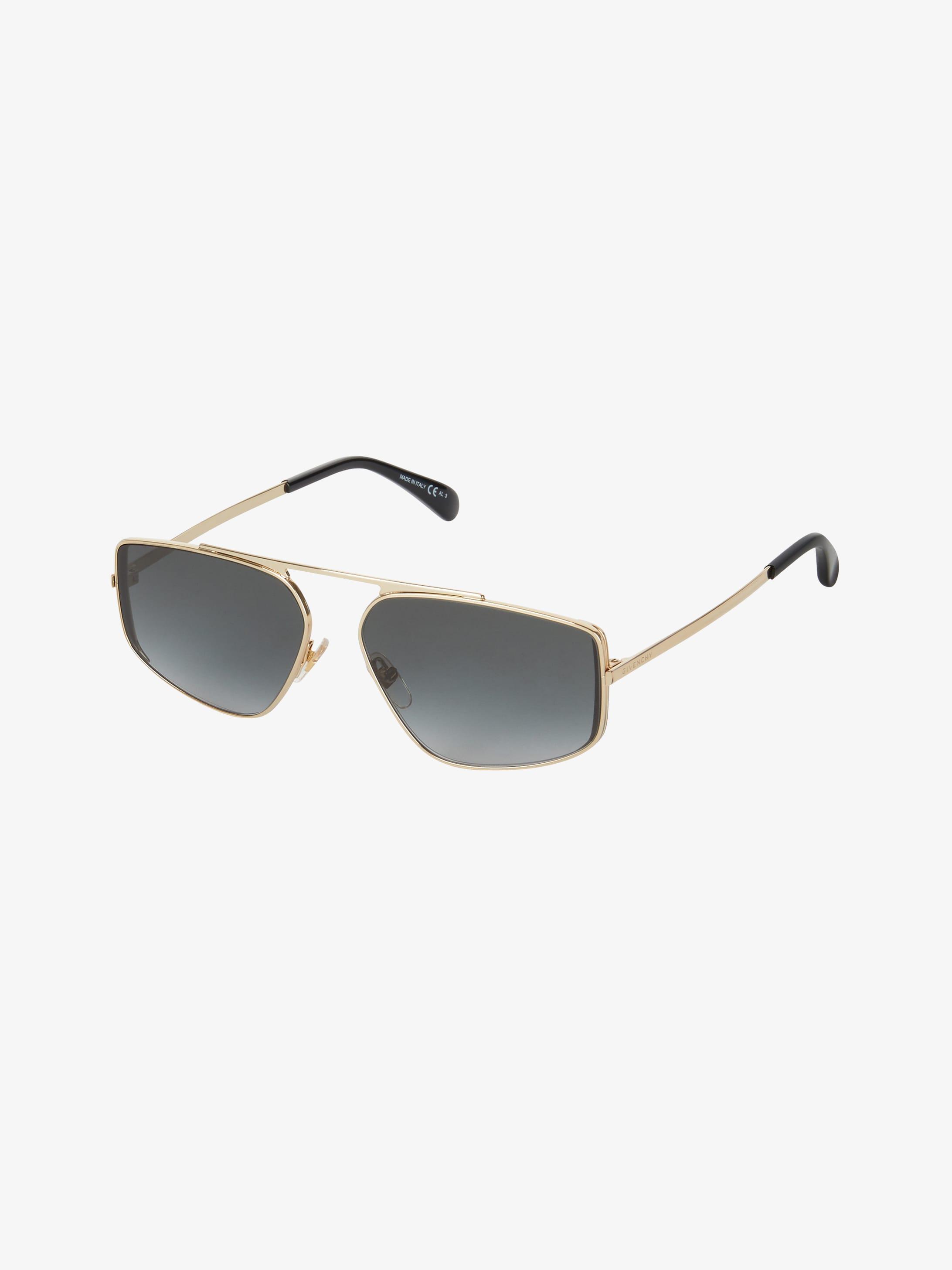 Unisex sunglasses in acetate and metal