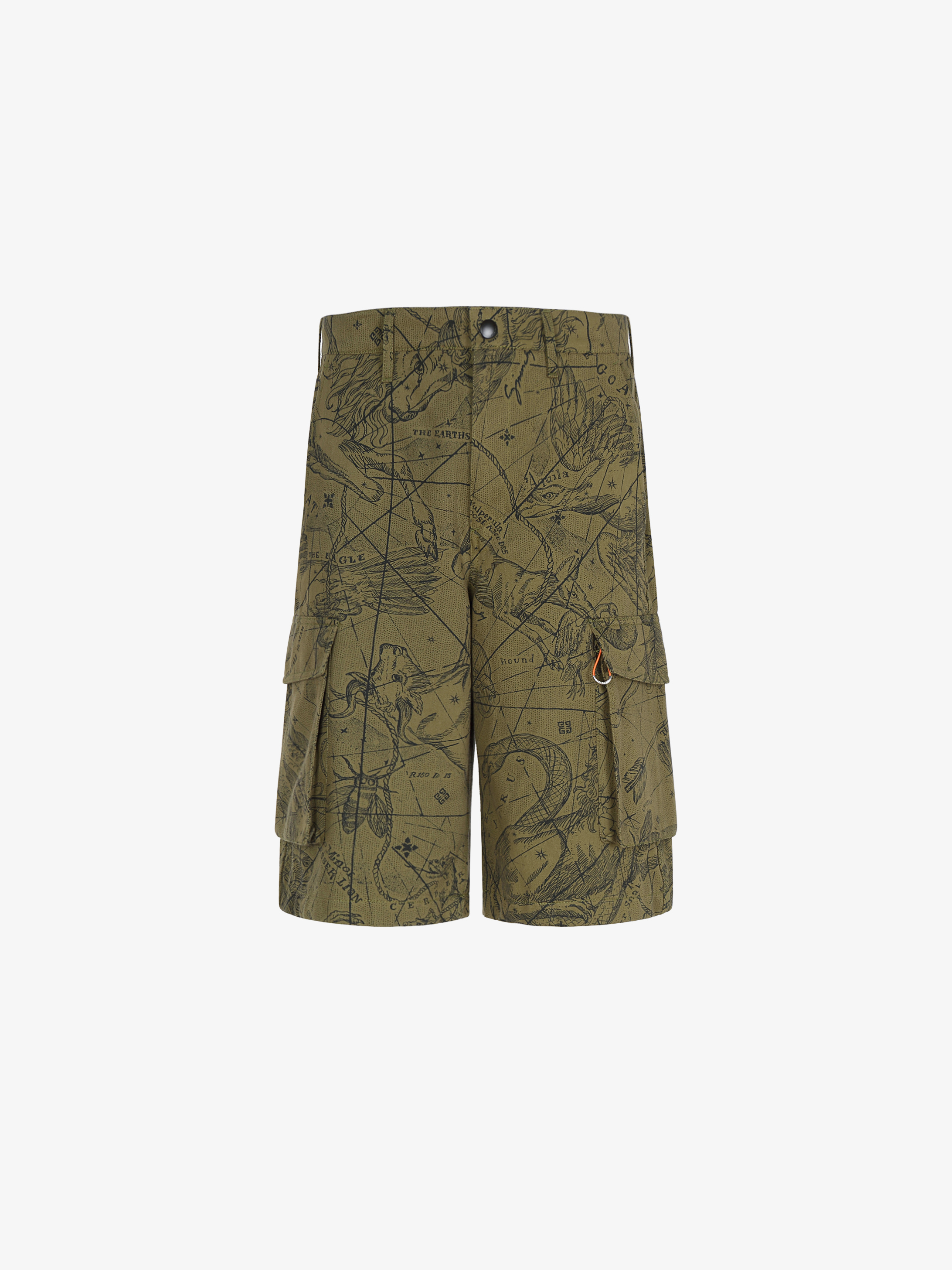 Astral printed multipockets cargo short pants