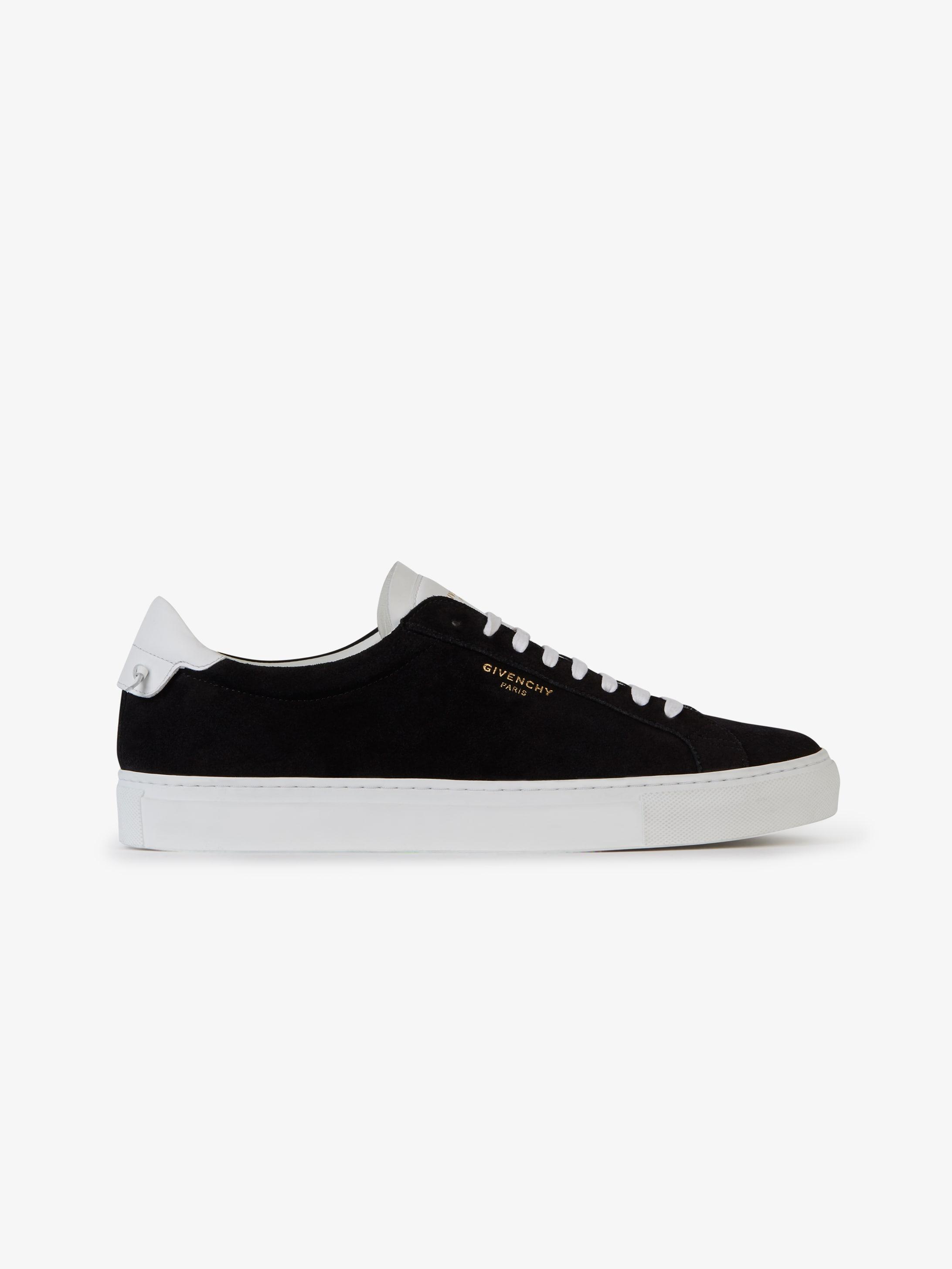 Low sneakers in bicolor suede