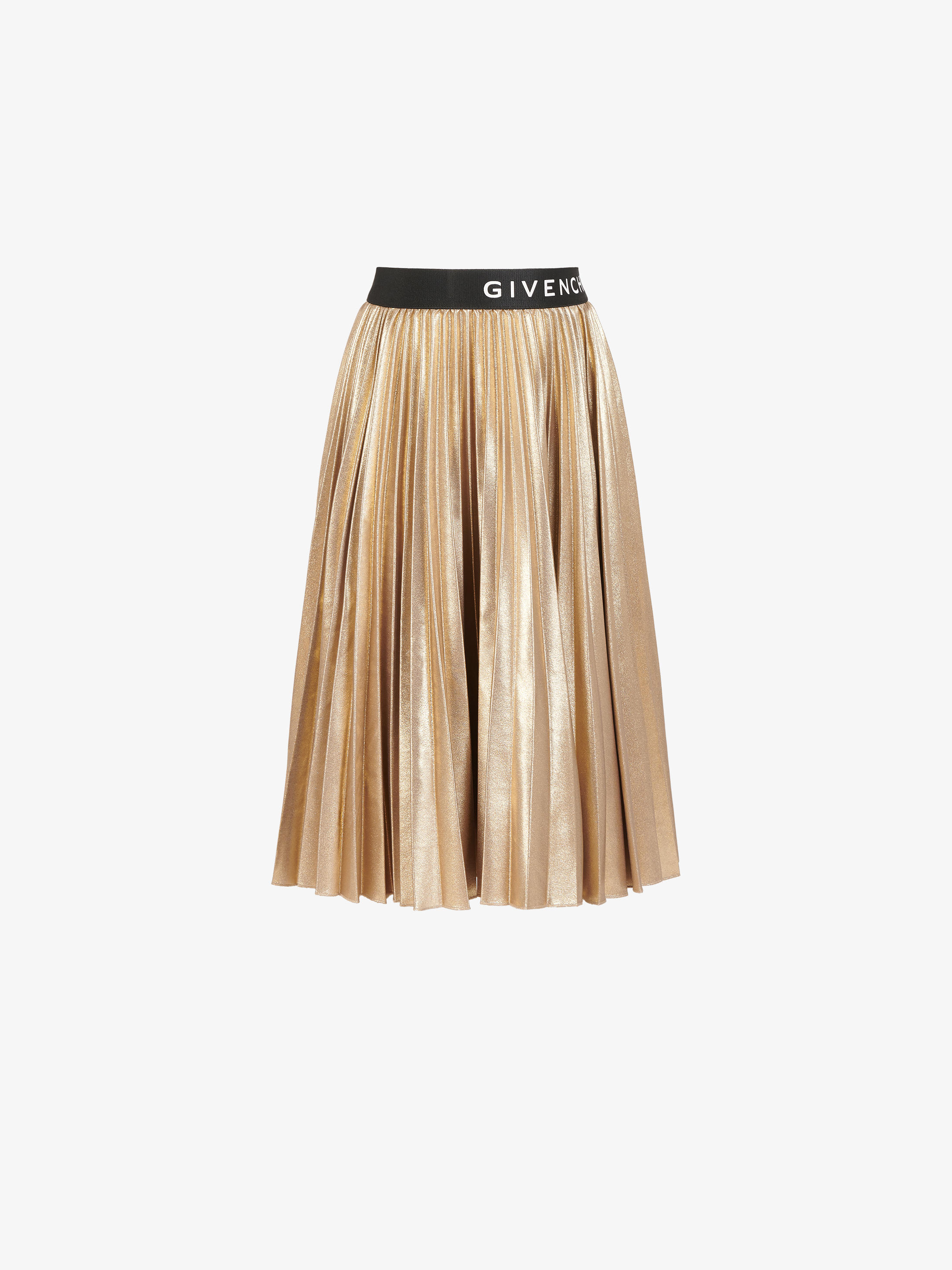 GIVENCHY skirt in pleated lamé