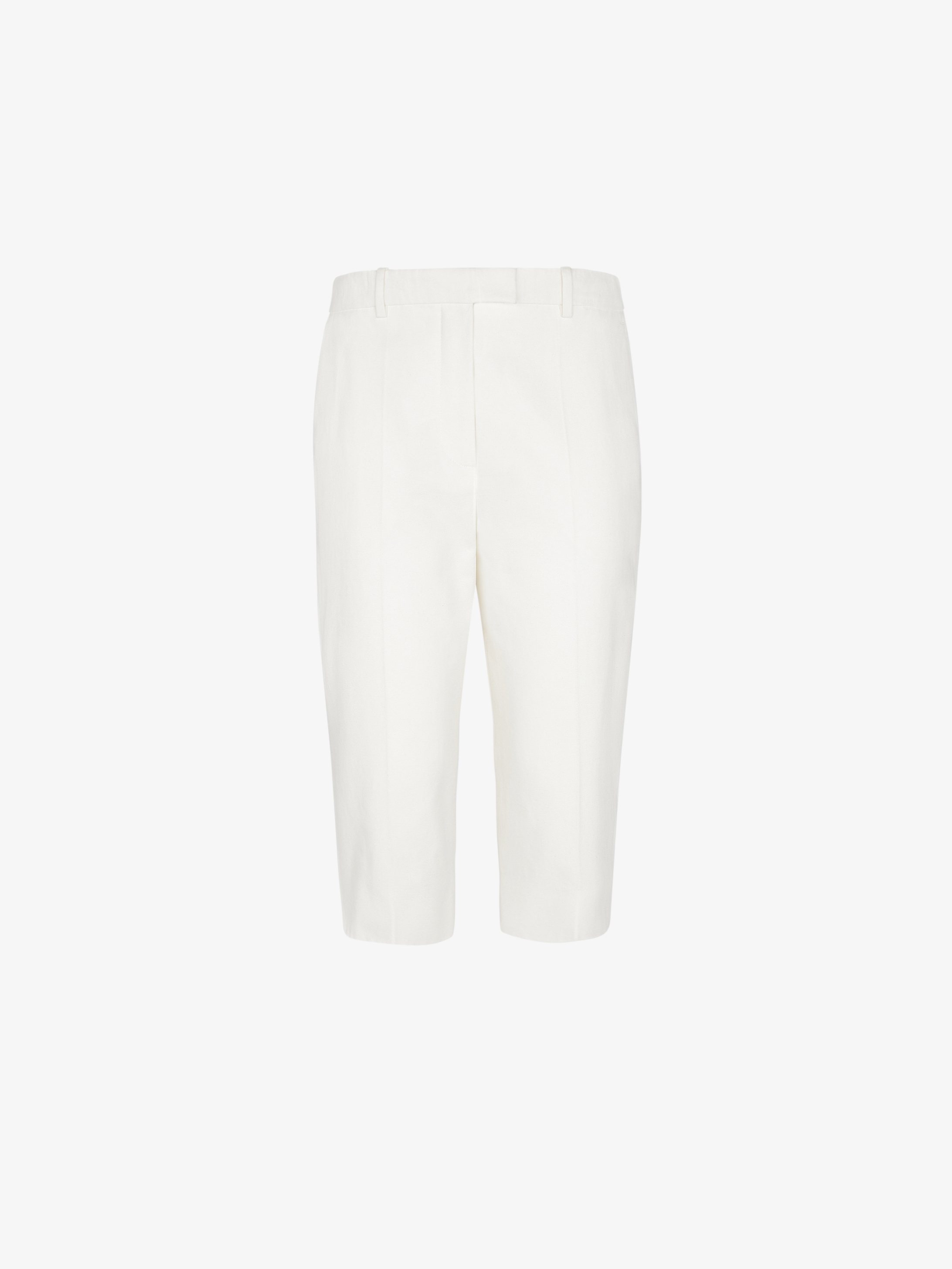 Straight short pants in cotton canvas