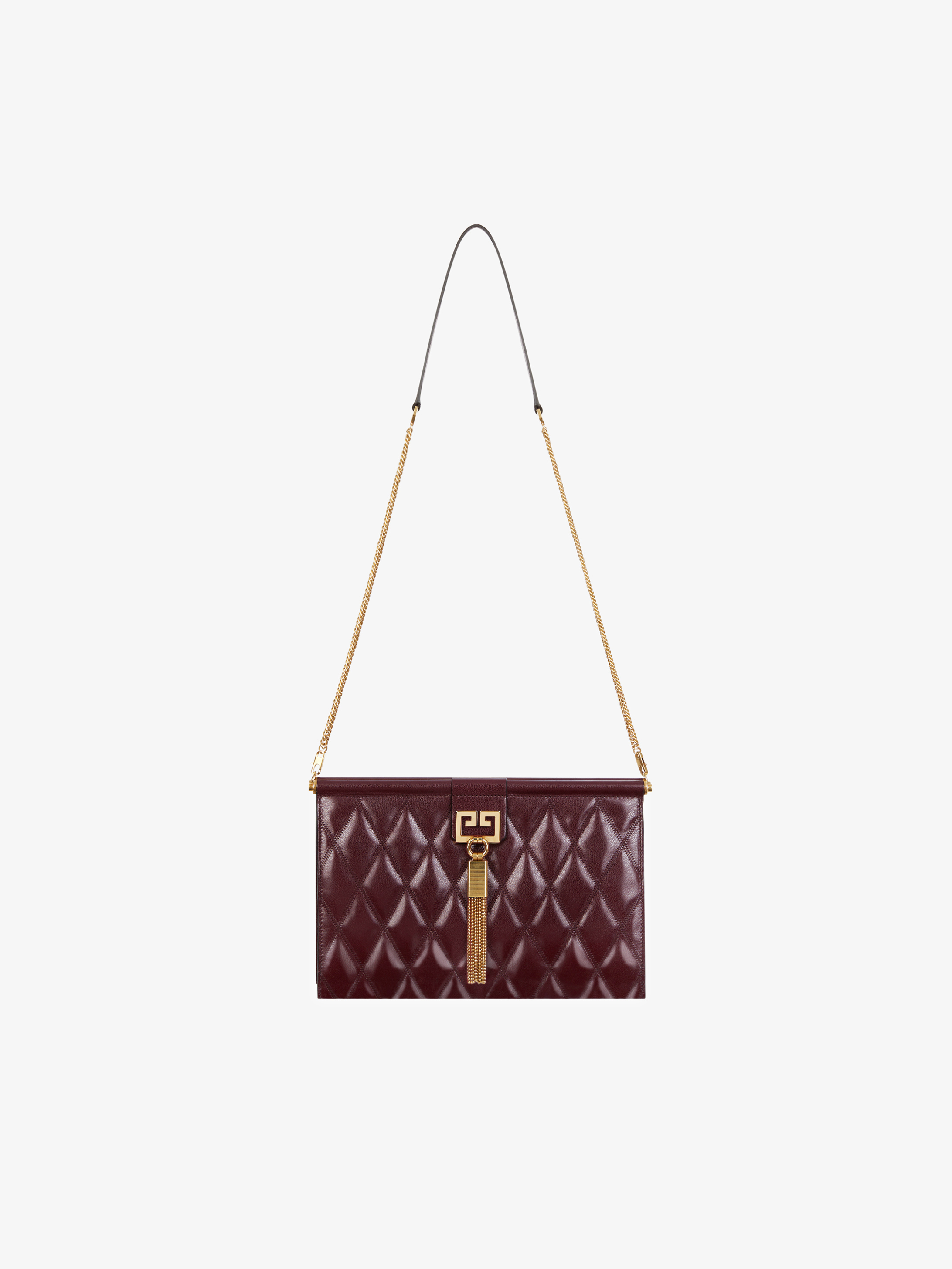 Medium GEM bag in diamond quilted leather