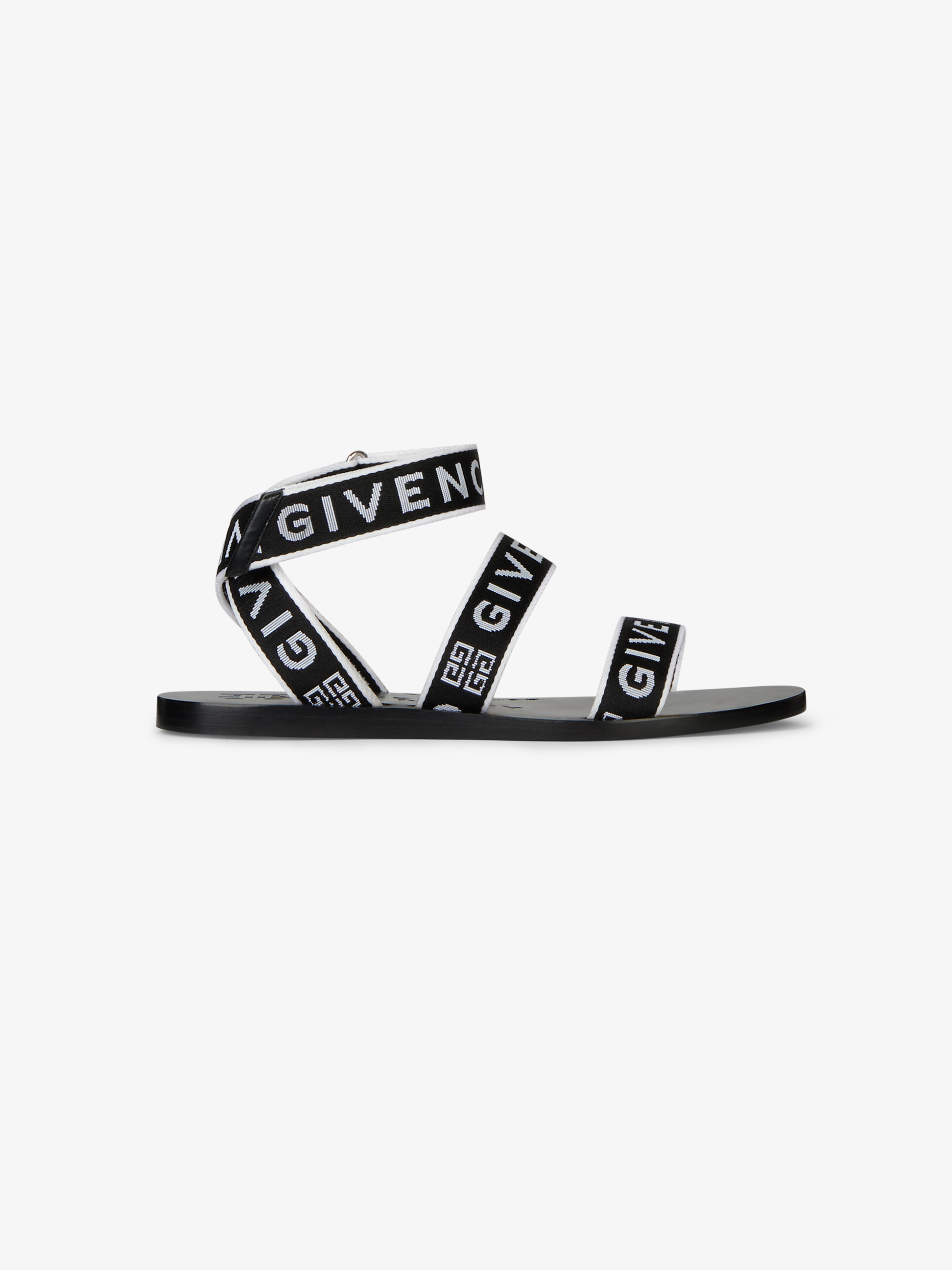 GIVENCHY 4G织带凉鞋