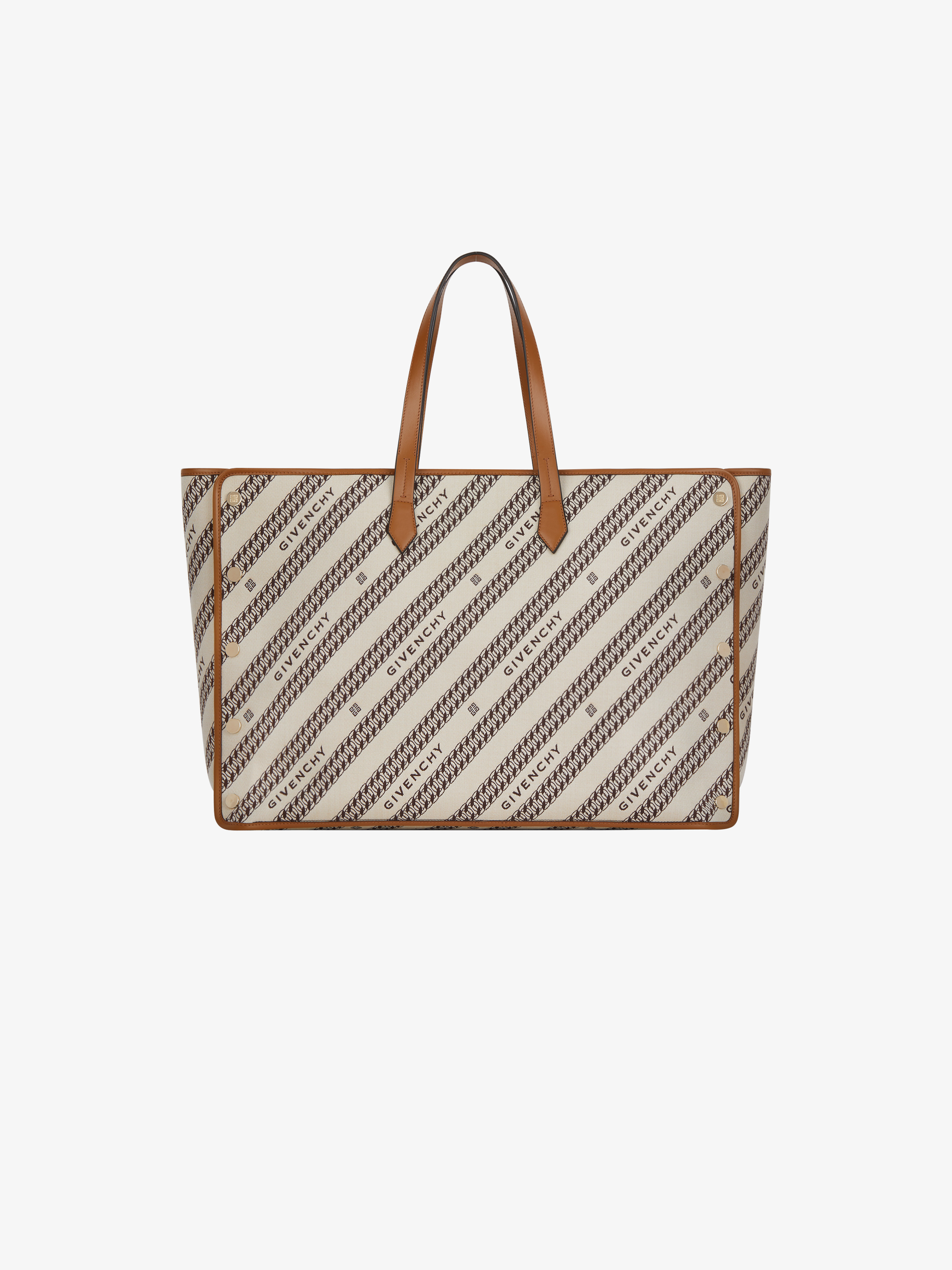 Large BOND shopper in GIVENCHY canvas chain jacquard