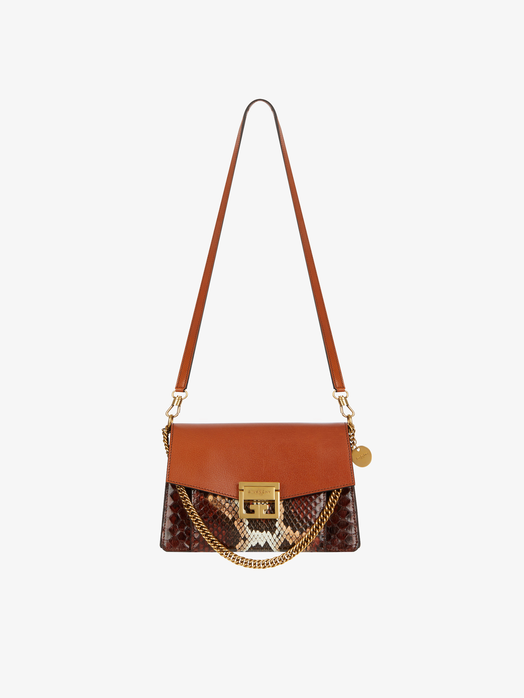 2012e94471 Small GV3 bag in python and leather