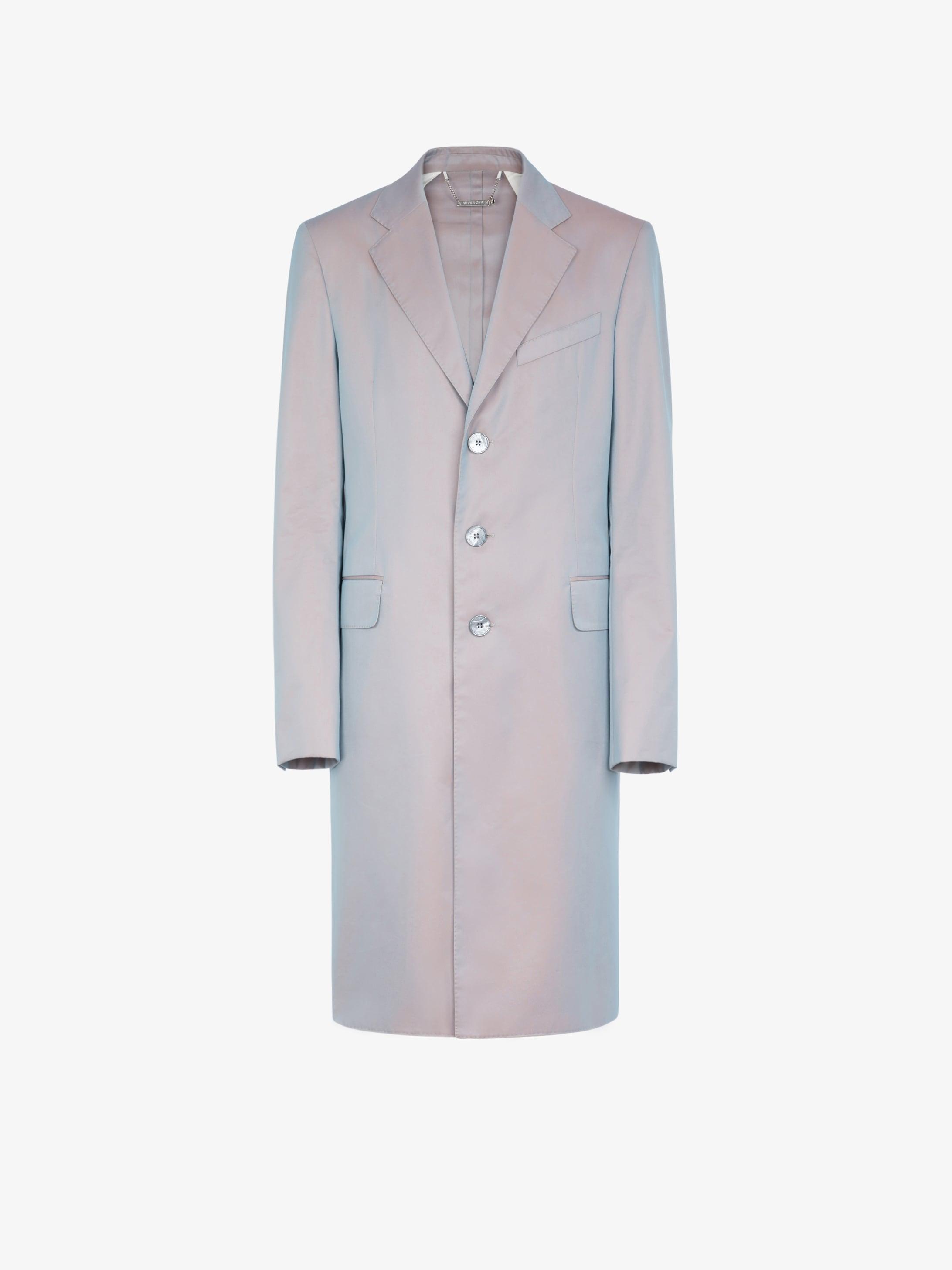 霓虹科技面料中长款棉质大衣