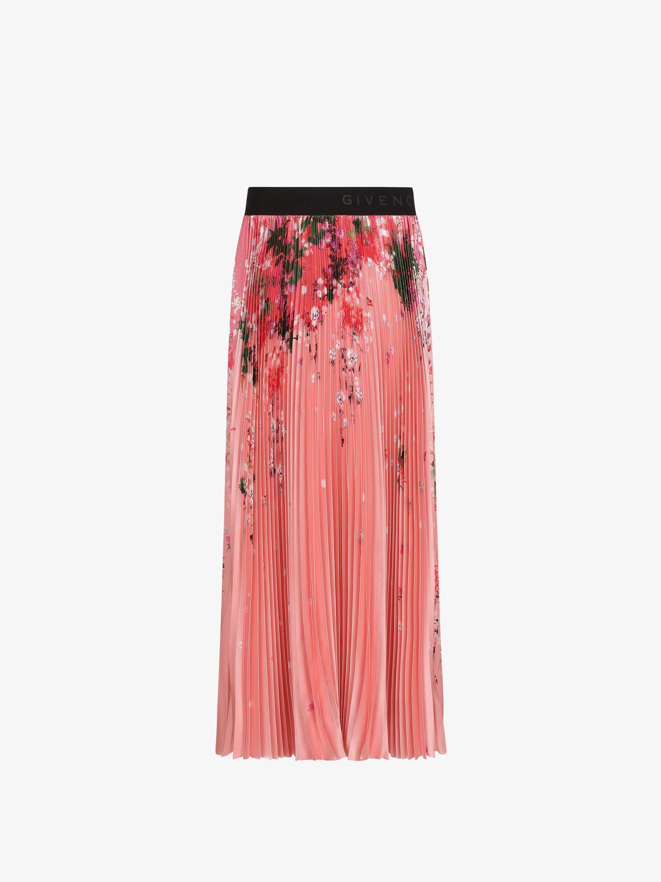 Jupe plissée à imprimé floral