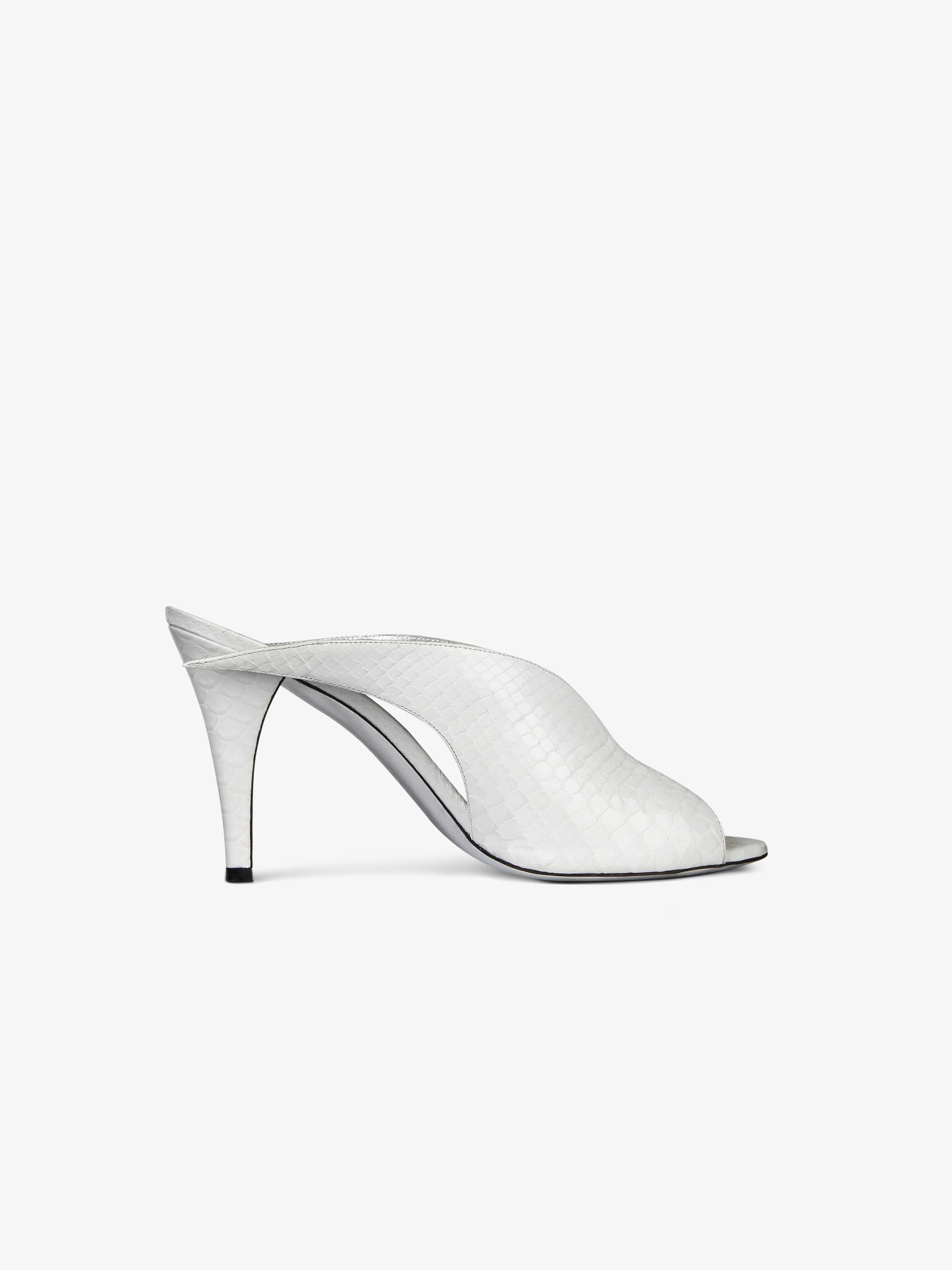 蟒蛇皮凉鞋