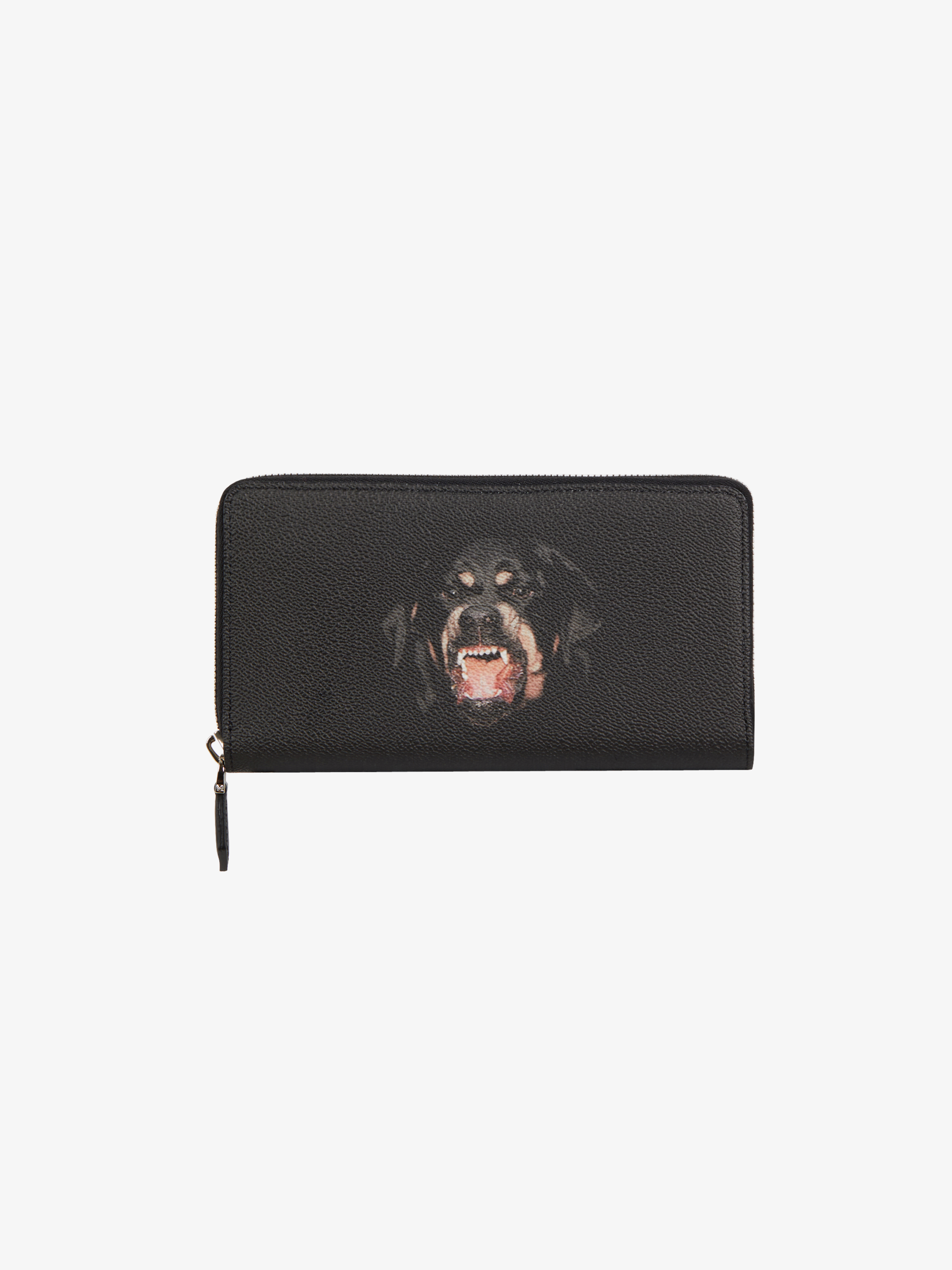 Rottweiler printed long zipped wallet