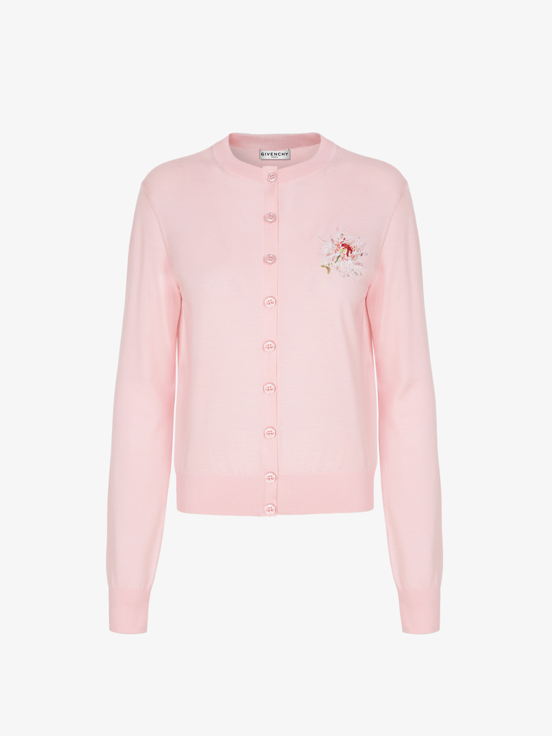 Cardigan à broderie florale GIVENCHY