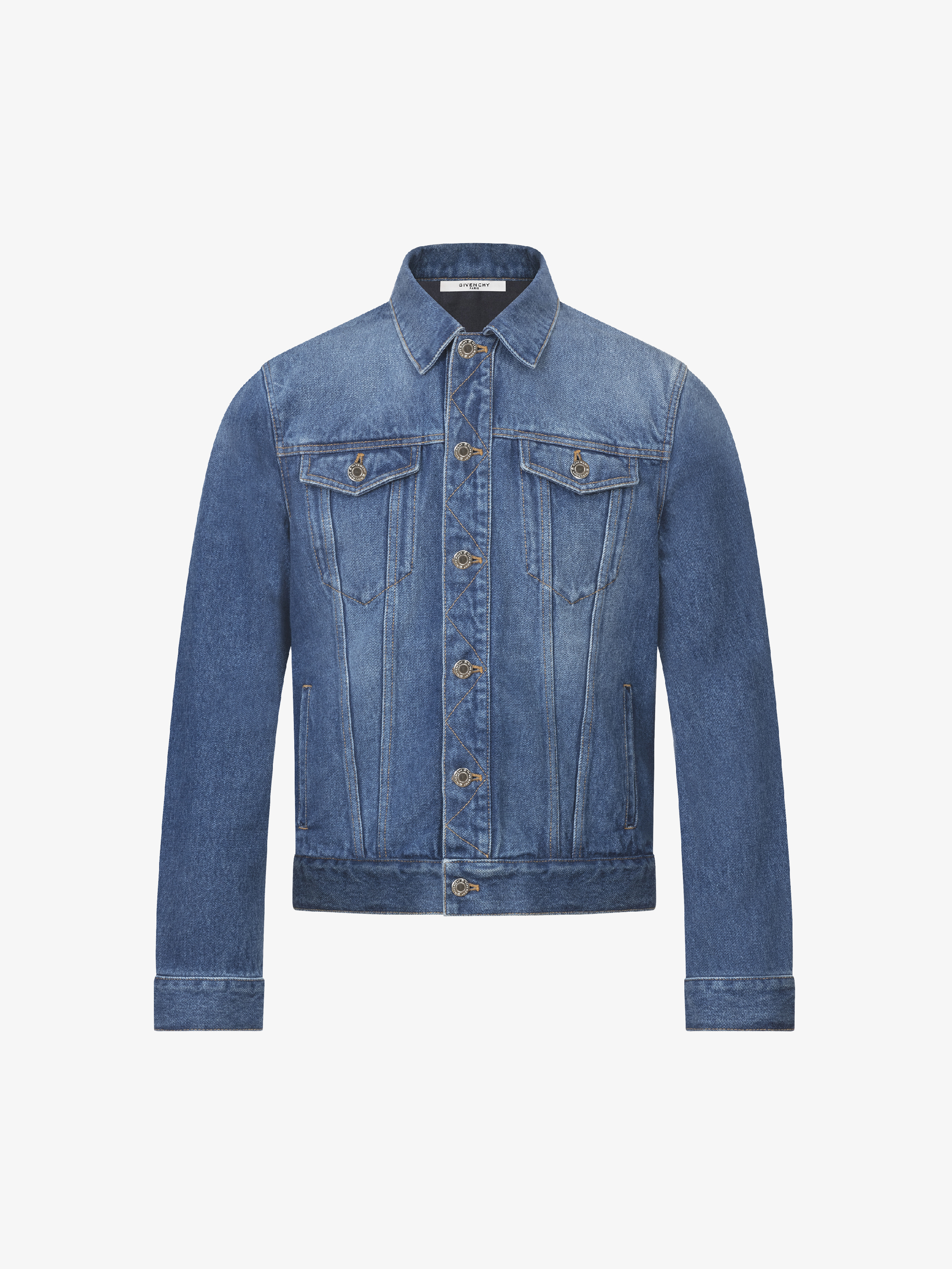 Giubbotto jeans logo GIVENCHY PARIS