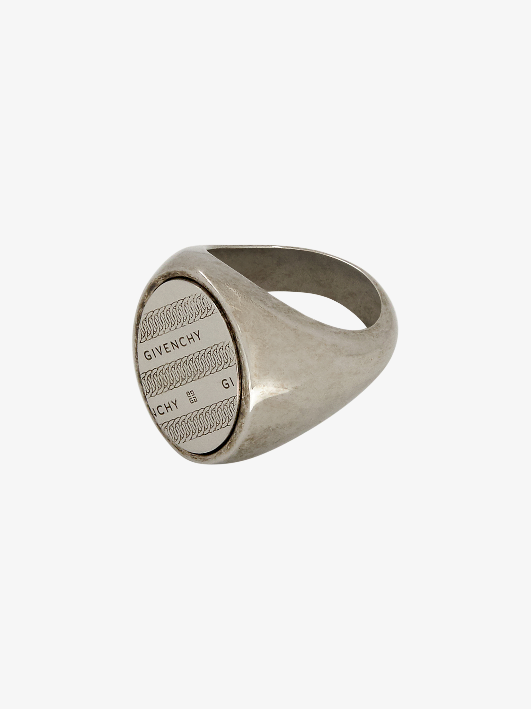 GIVENCHY chain engrave signet ring