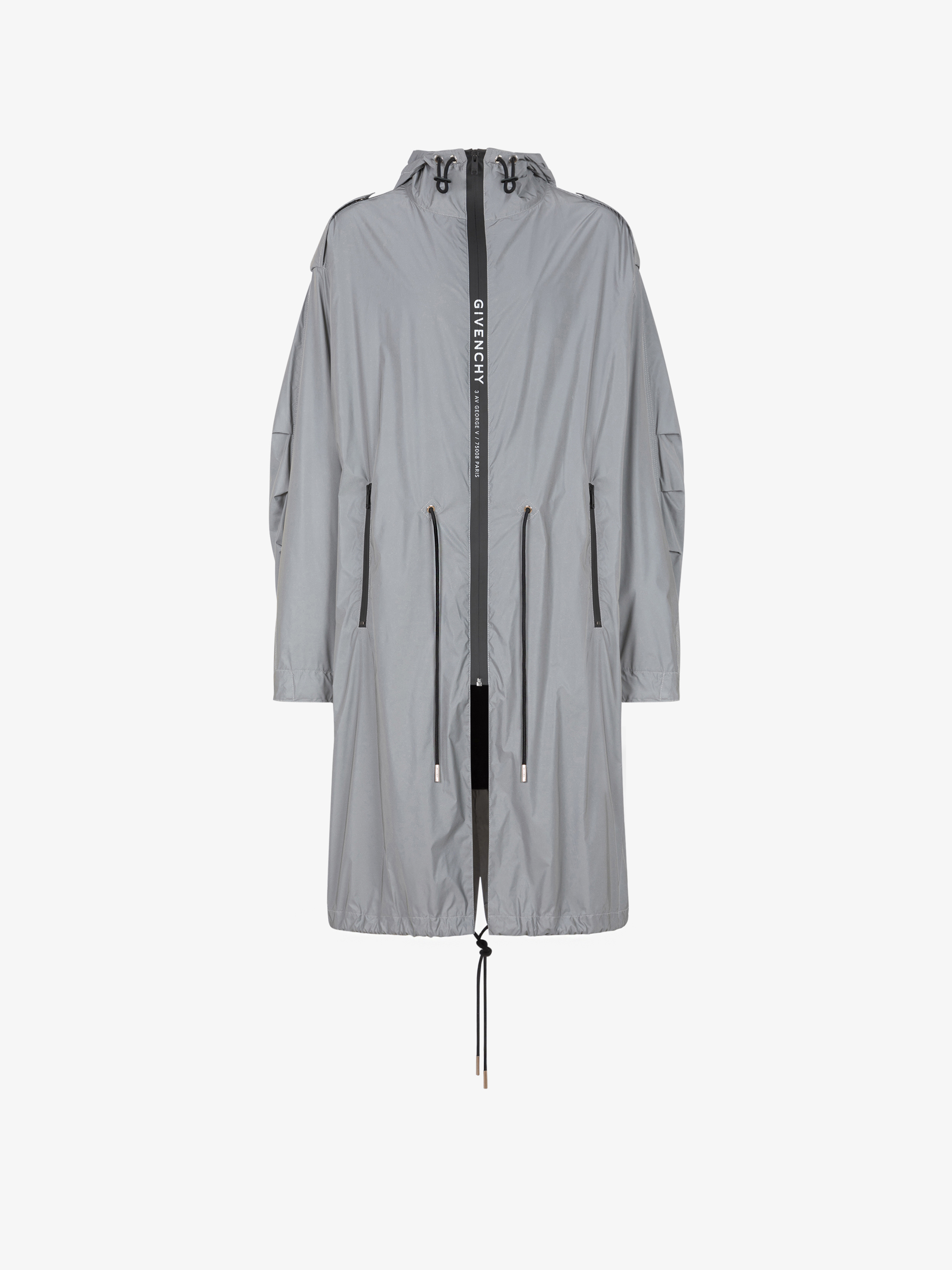 GIVENCHY ADDRESS reflective parka